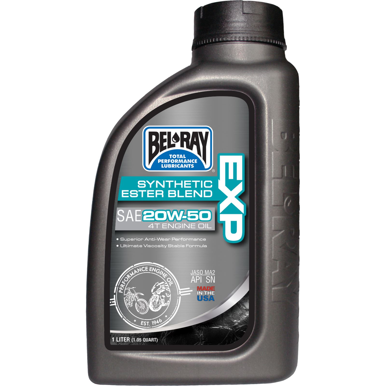 Bel-Ray EXP Semi-Synthetic Ester Blend 4T Engine Oil