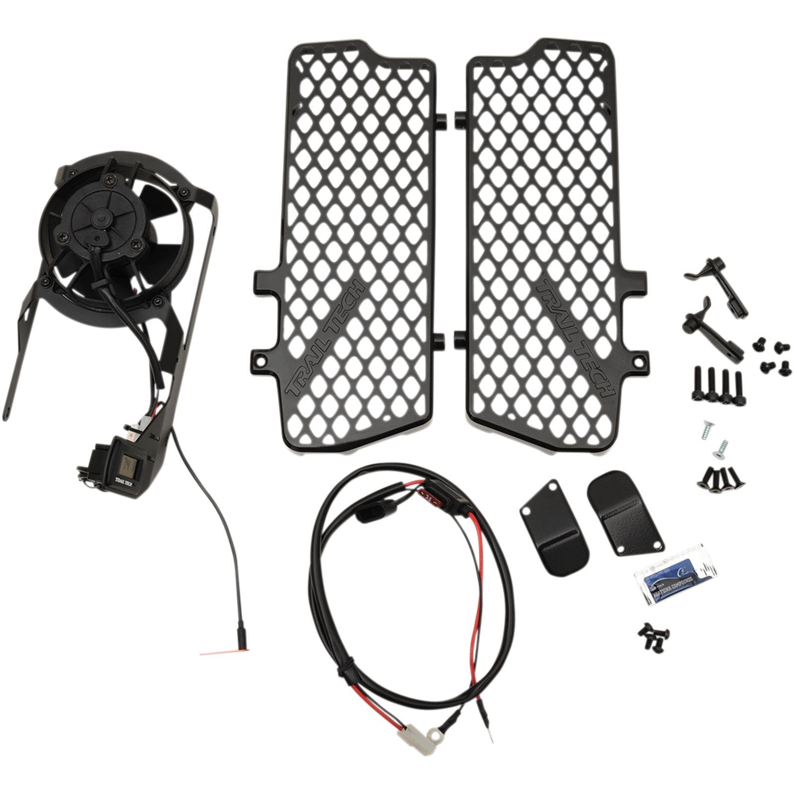 Trail Tech Radiator Guard Fan Kit w/Thermostat
