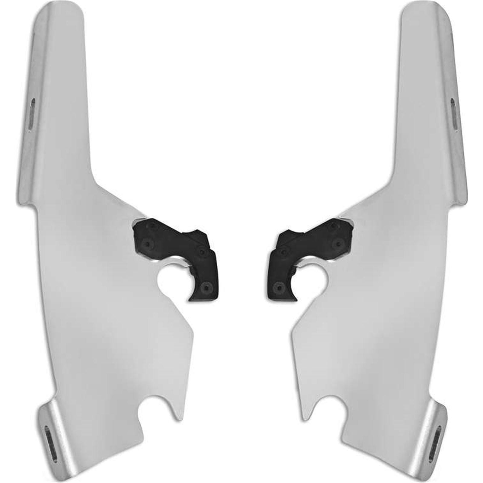 Memphis Shades Batwing Plate Kit - Polished - FLSB