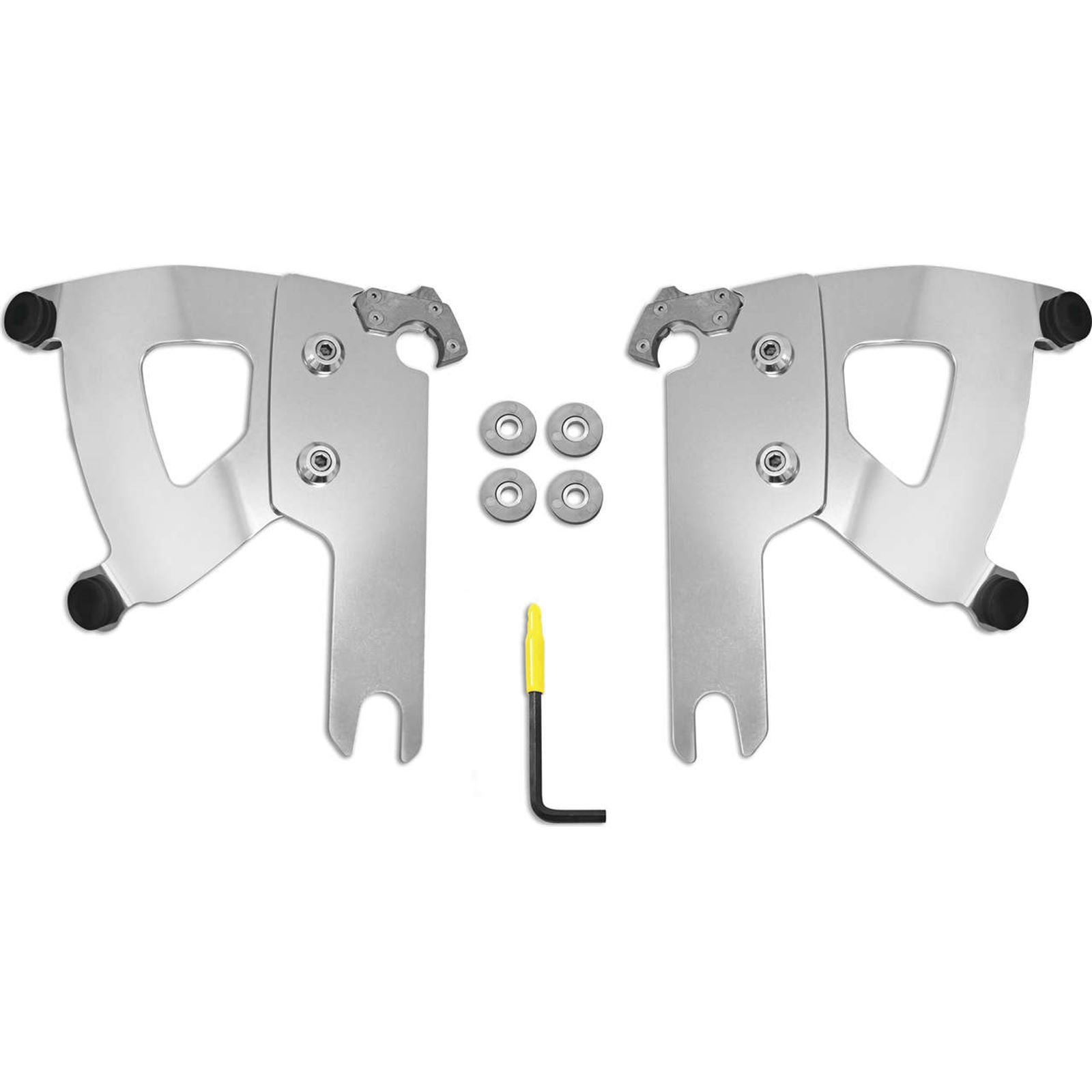 Memphis Shades Road Warrior Mounting Kit - Polished - FLHR