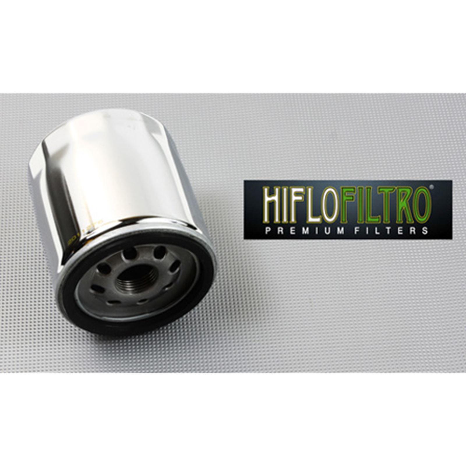 Hiflofiltro Oil Filter Chrome