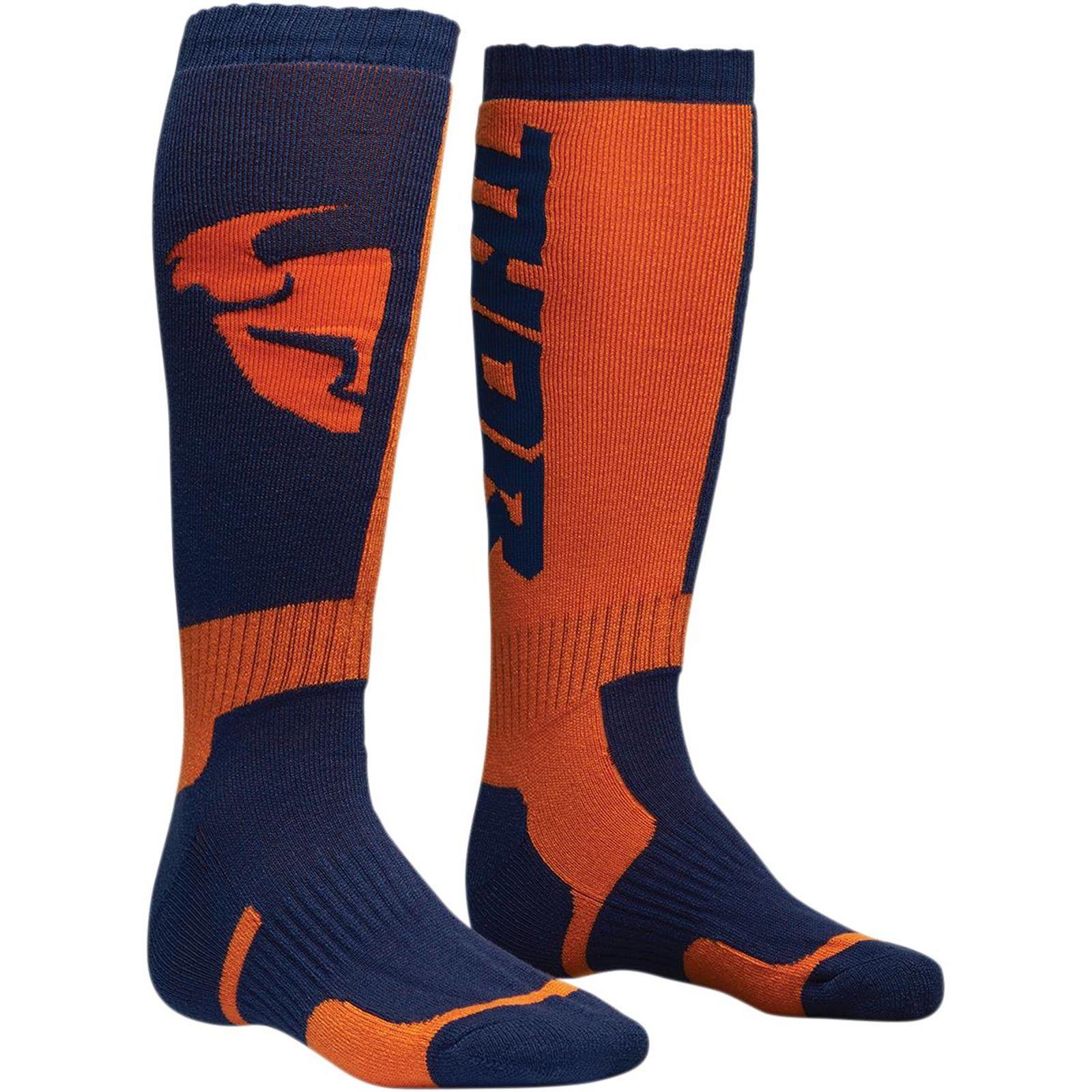 Grey//Orange//Small//Medium Alpinestars MX Plus2 Mens Off-Road Motorcycle Socks