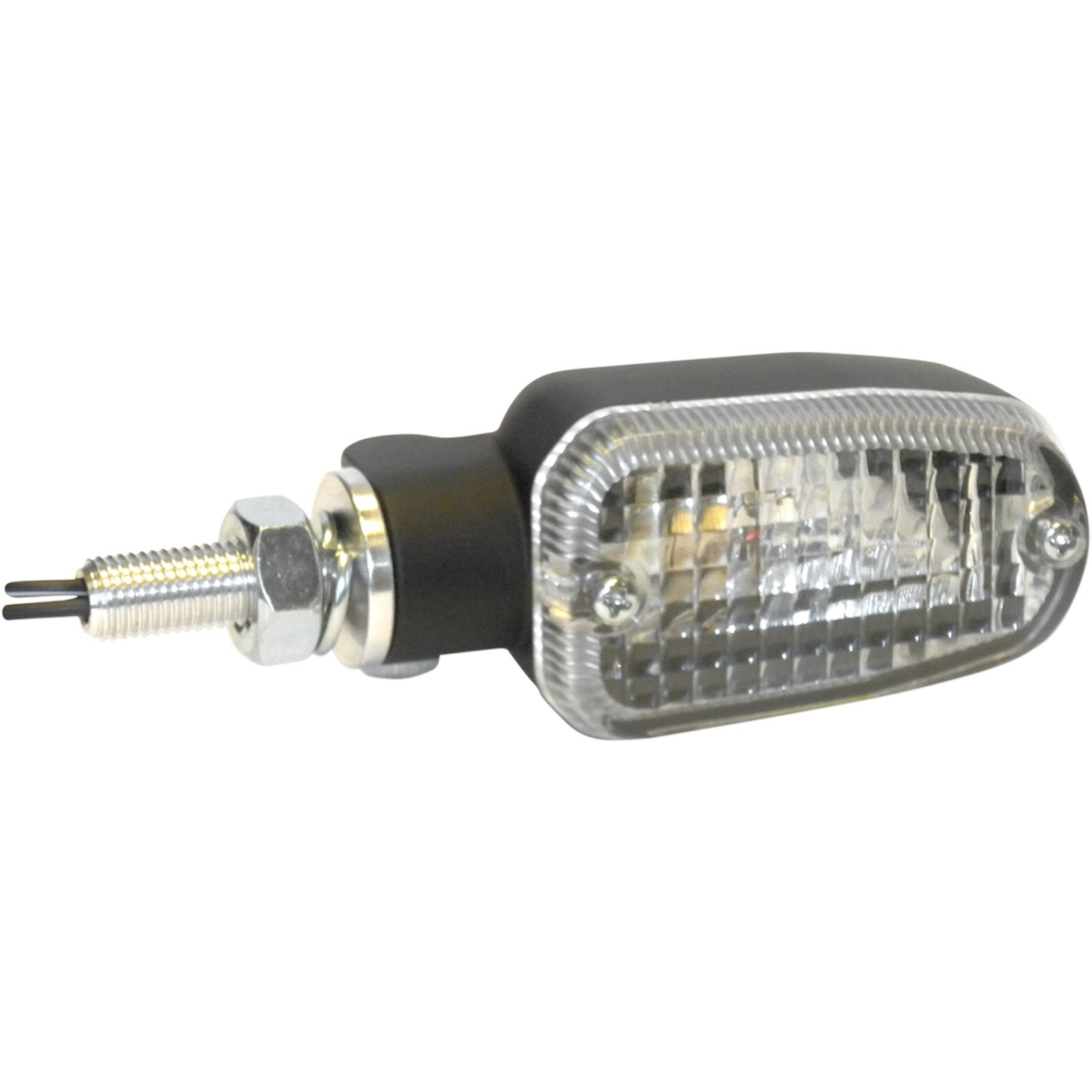 K S Turn Signal - DOT-Compliant/E-Marked - Single Filament - Black/Clear