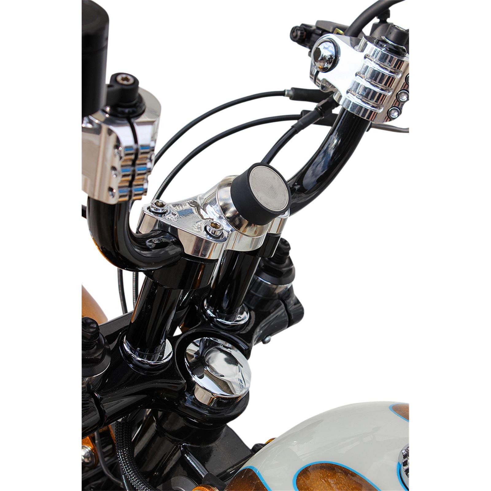Klock Werks Chrome iOmount™ Handlebar Clamp for '84 - '19 Harley Davidson