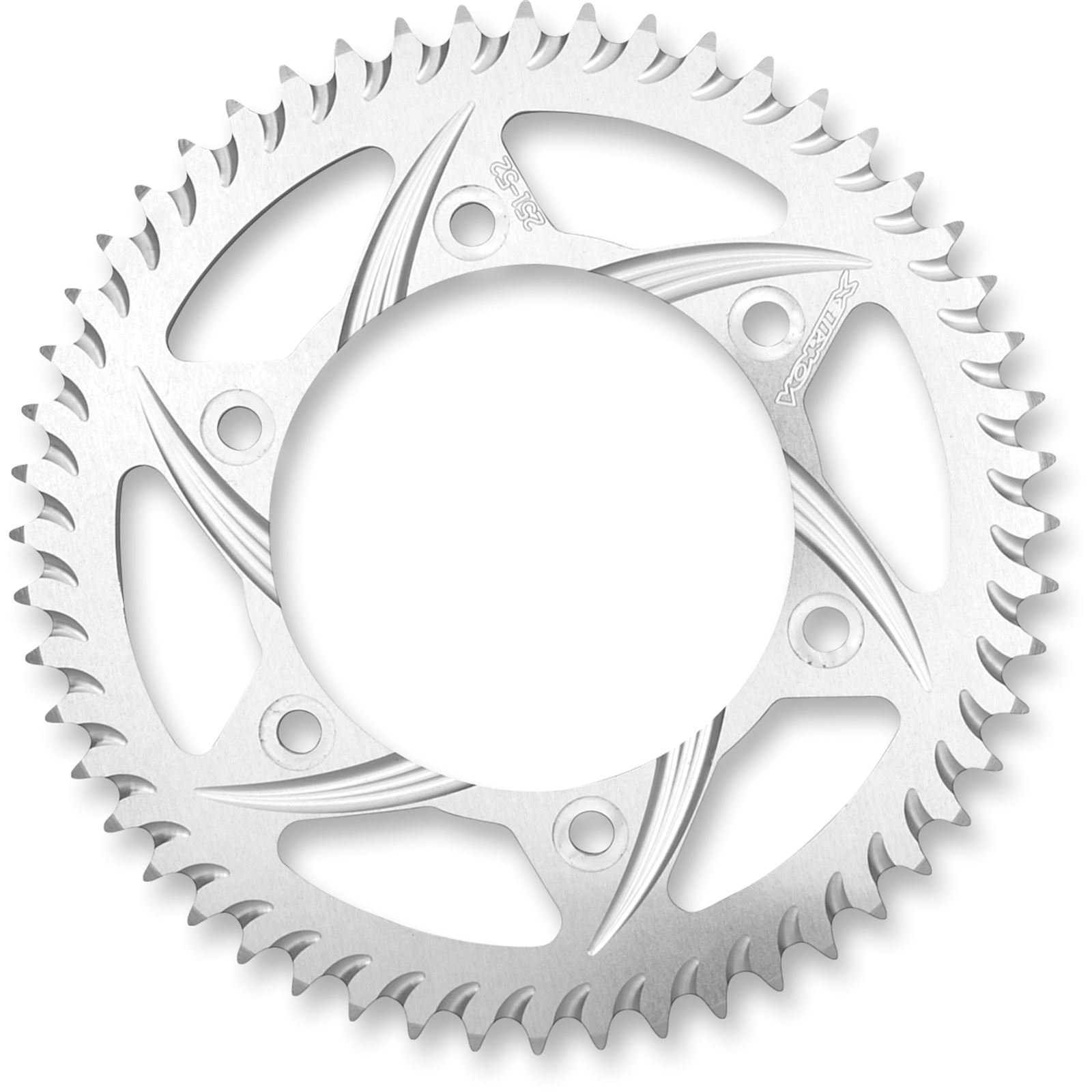 Vortex Aluminum Sprocket - Silver - Rear - 520 - 46-Tooth - Yamaha