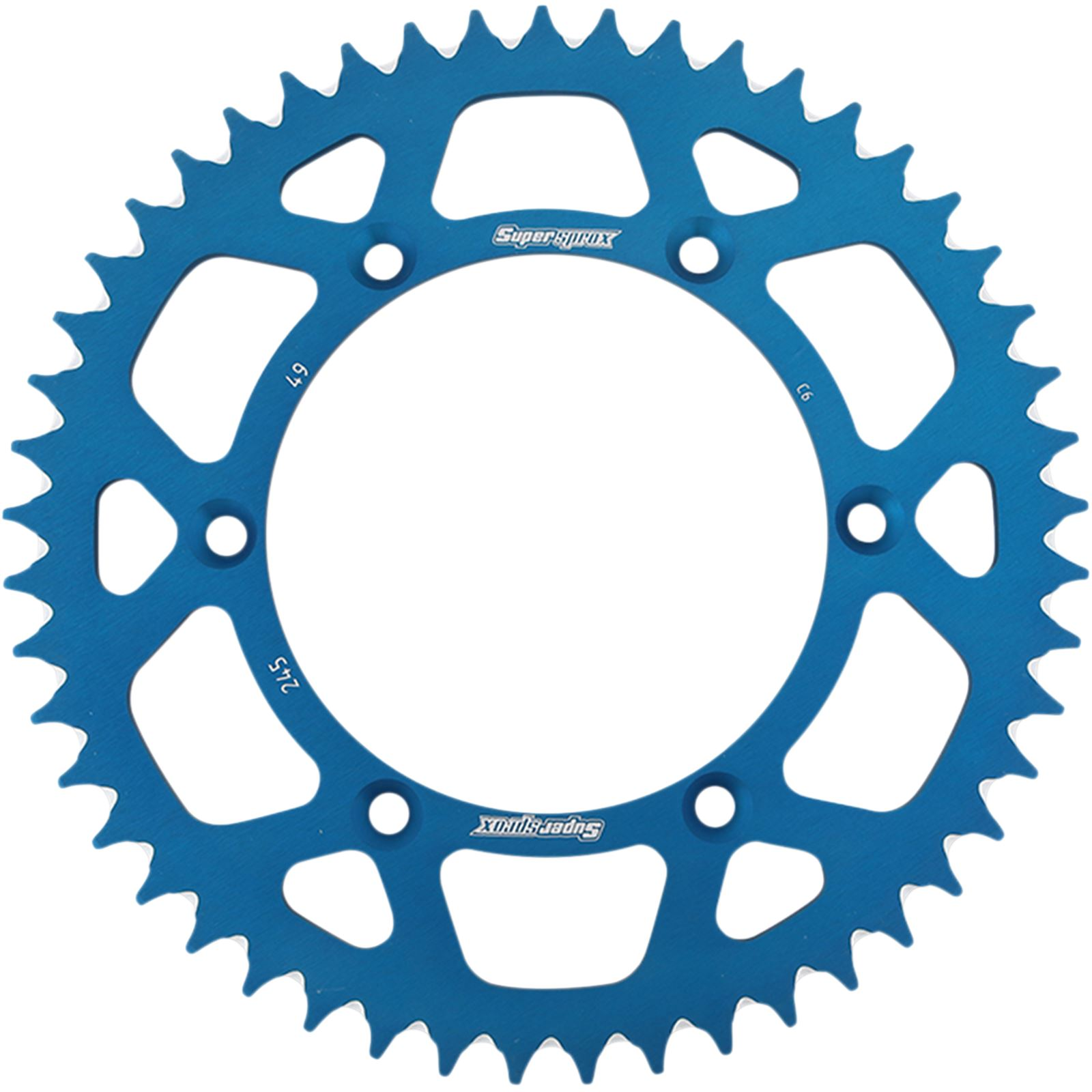 Supersprox Rear Sprocket - Blue for Yamaha - 49-Tooth