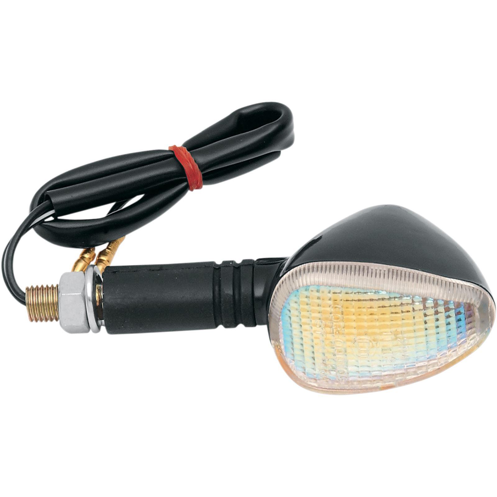 K S Marker Lights - Dual Filament - Black/Rainbow