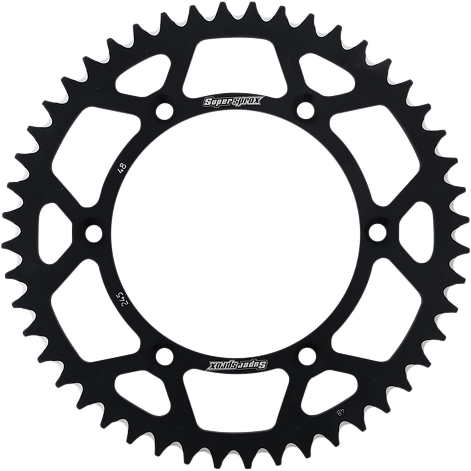 Supersprox Rear Sprocket - Black for Yamaha - 48-Tooth