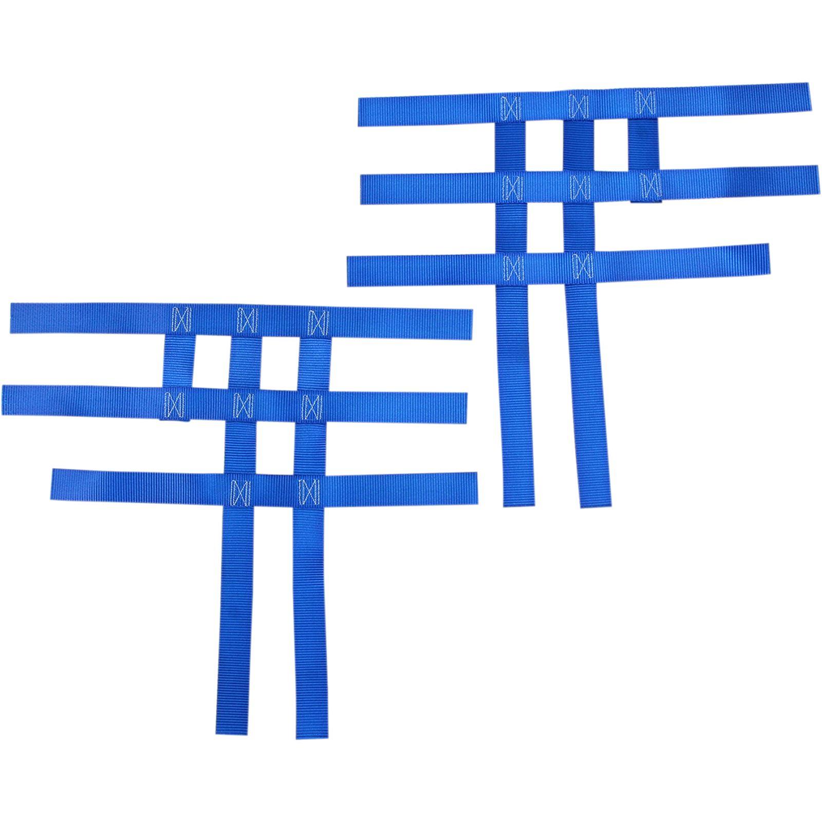 Motorsport Products Nerf Bar Net - Blue - Yamaha/Honda