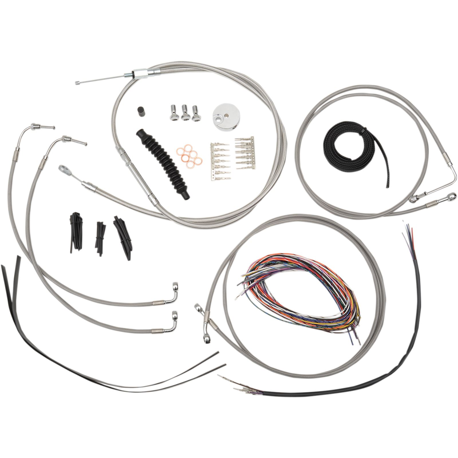 """LA Choppers 18"""" - 20"""" Cable Kit for FL with  ABS"""