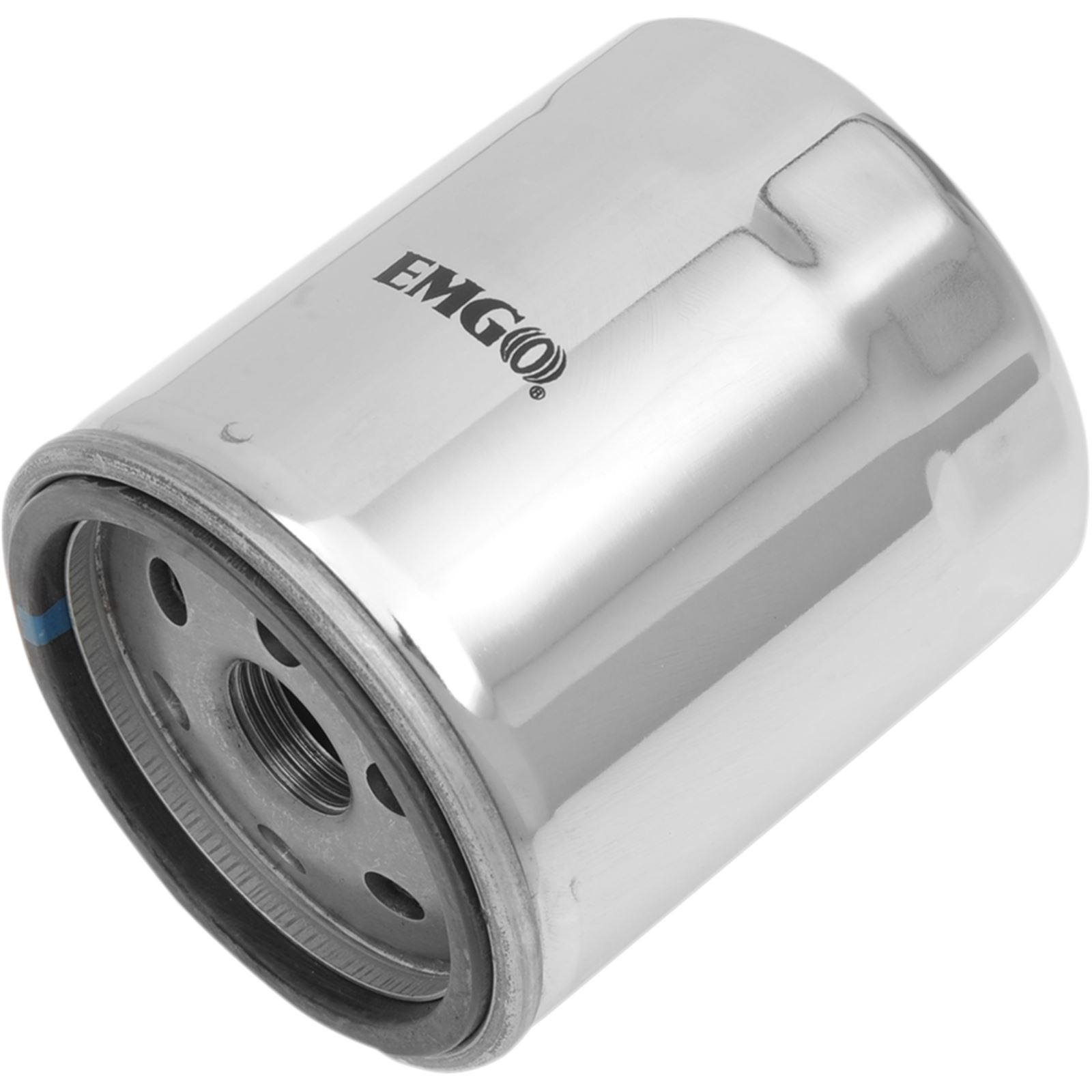Emgo Oil Filter - Chrome