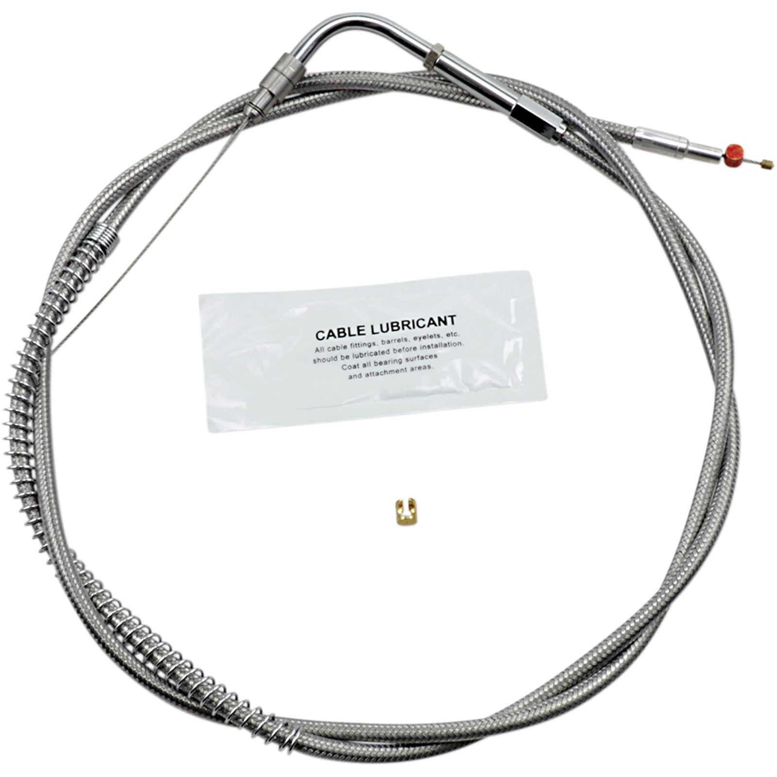 "Barnett Performance Extended 8"" Stainless Steel Throttle Cable"