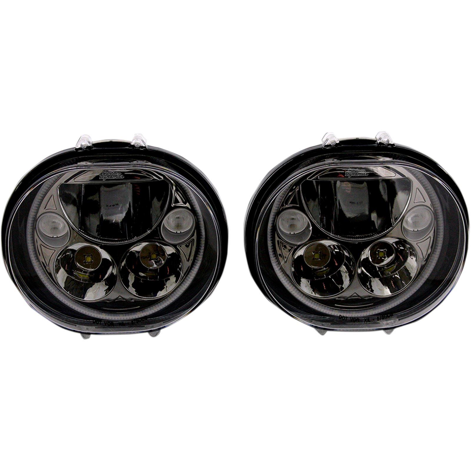 "Custom Dynamics LED Headlight - 5-3/4"" - Black - Pair"