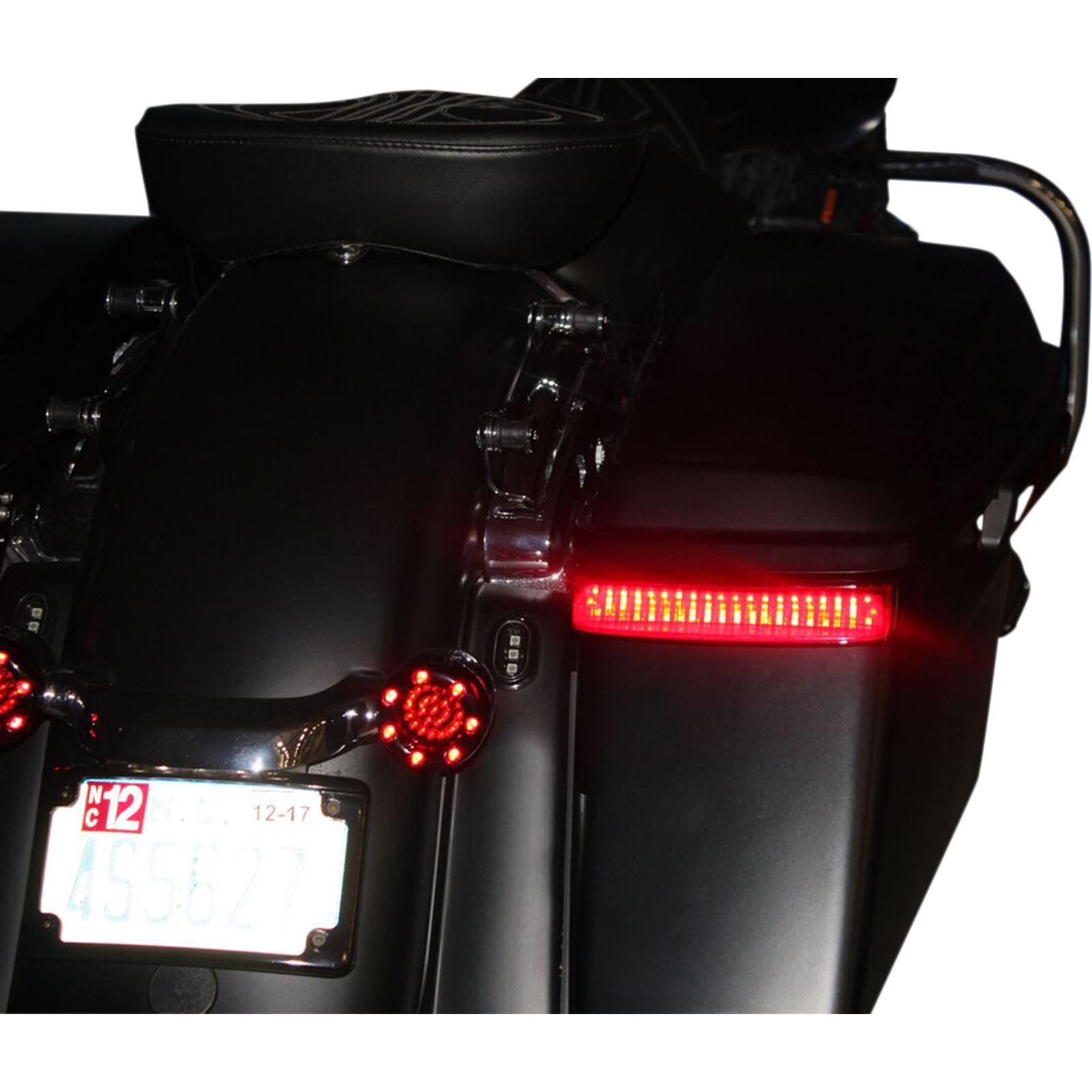 Custom Dynamics Saddlebag LED Lights - '09-'15 CVO - Black/Red