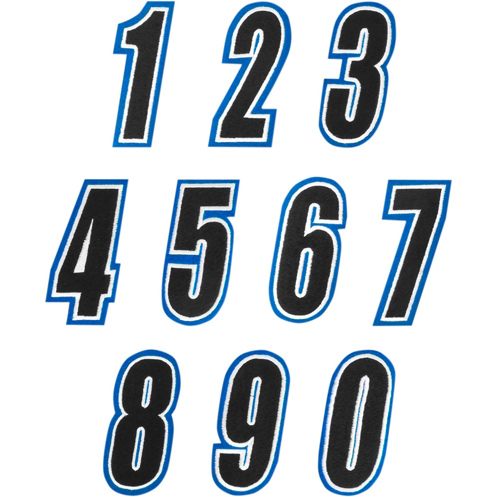 American Kargo Number Patch - Blue/Black #8