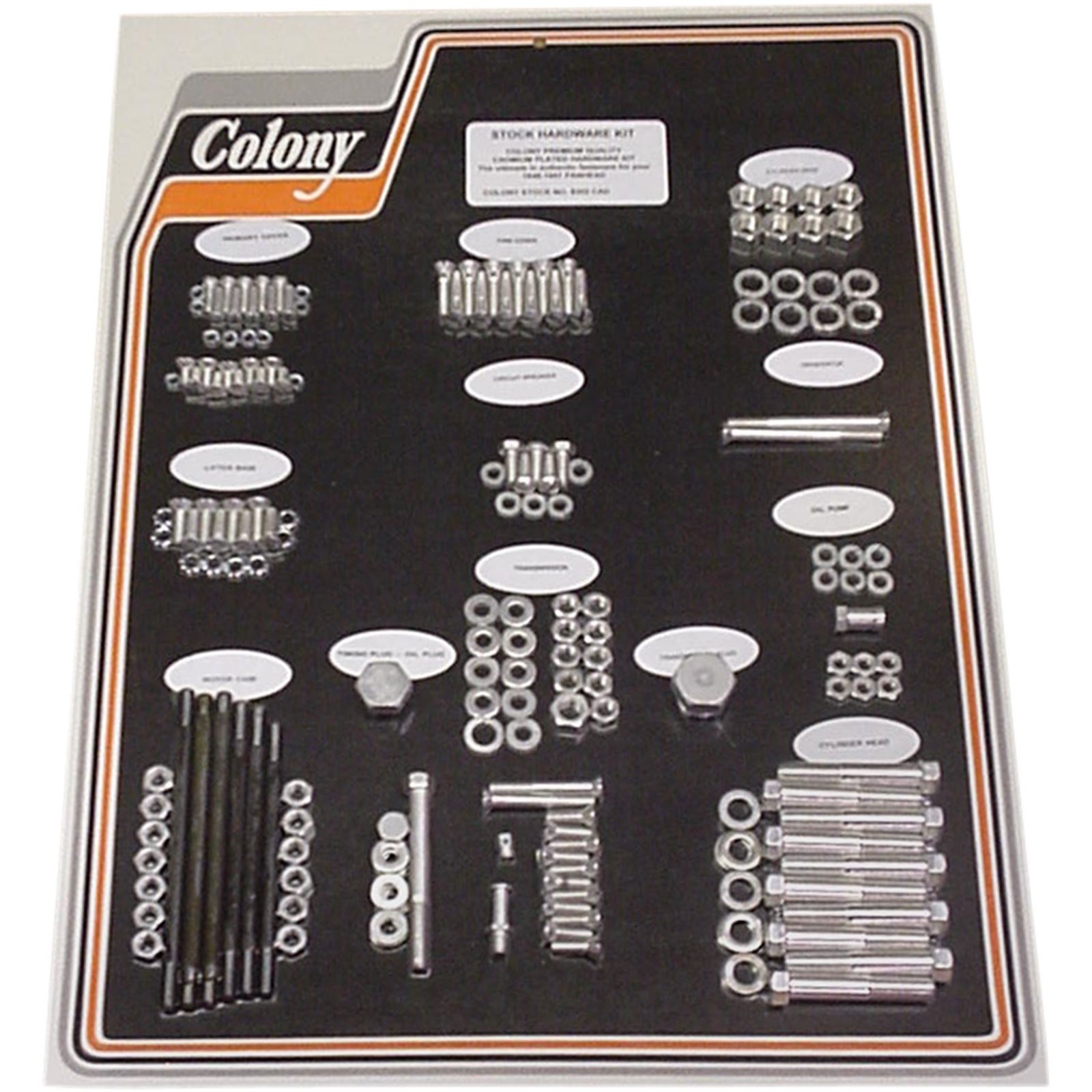 Colony Machine Kit Hardware 48-57 Cadmium