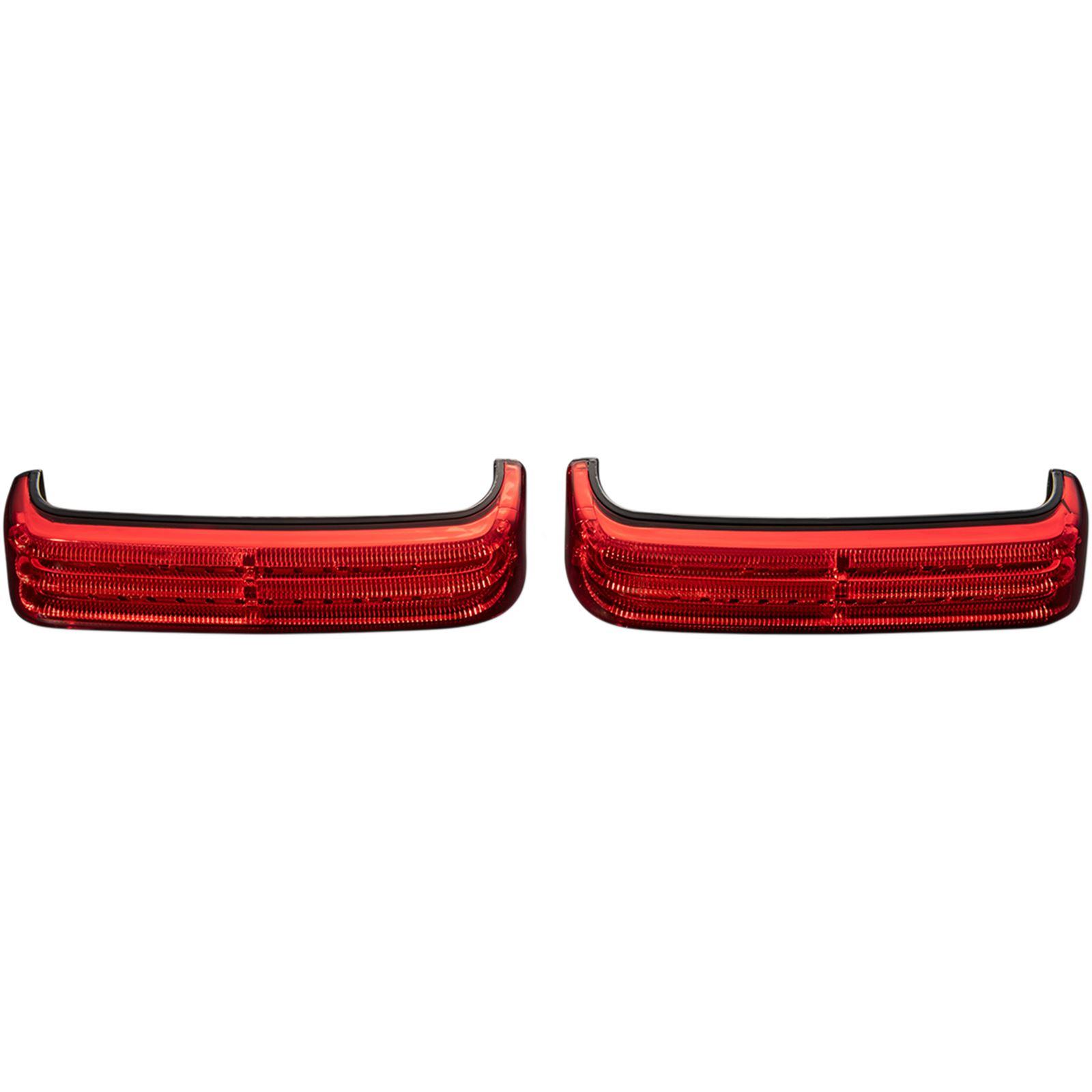 Custom Dynamics Saddlebag Lights - SS8 - Black/Red
