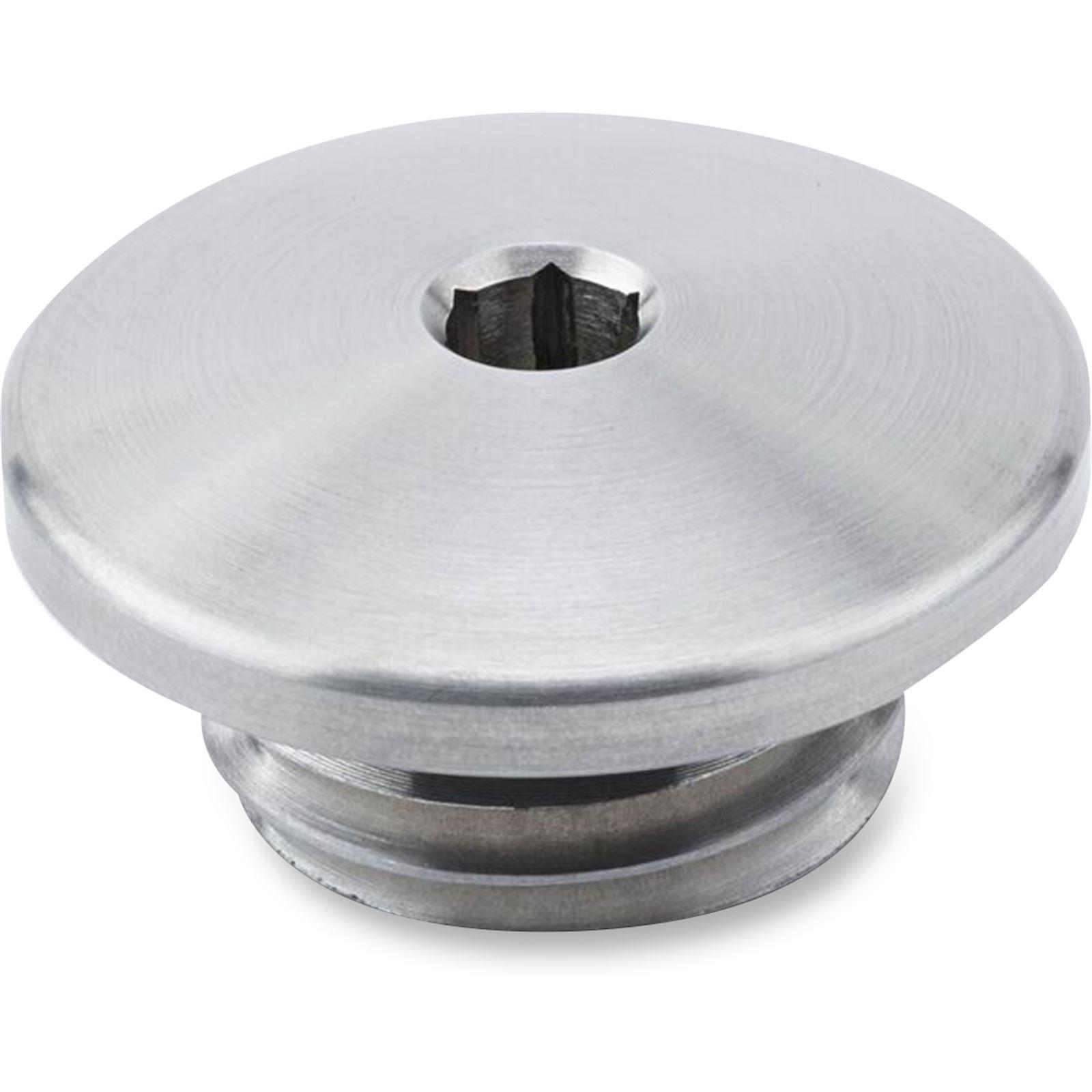 British Customs Oil Filler Cap - Stainless Steel - Brushed