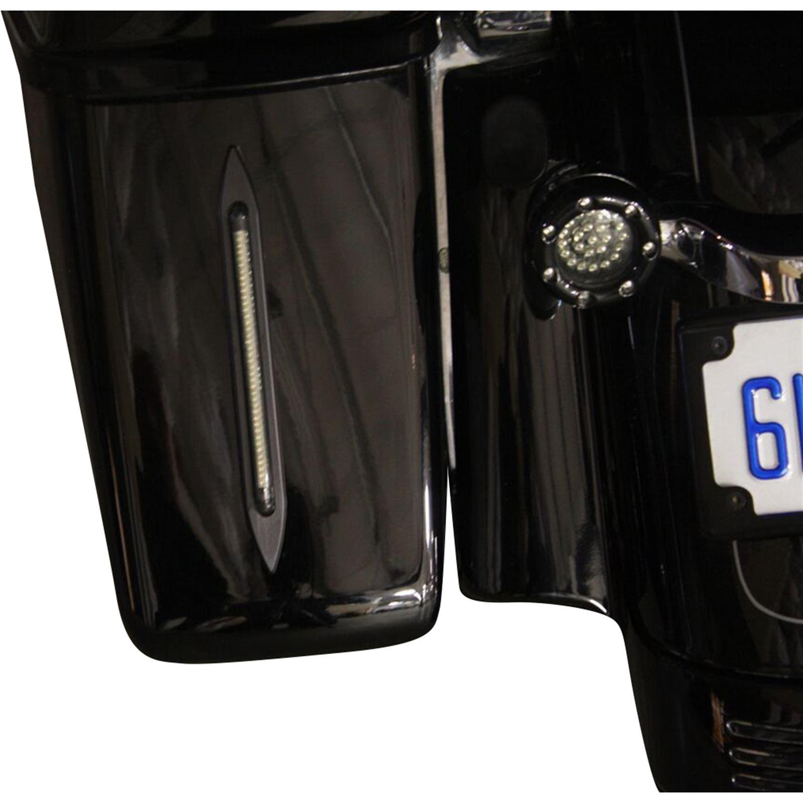 "Custom Dynamics 8"" LED Bag Lights - Black/Red"