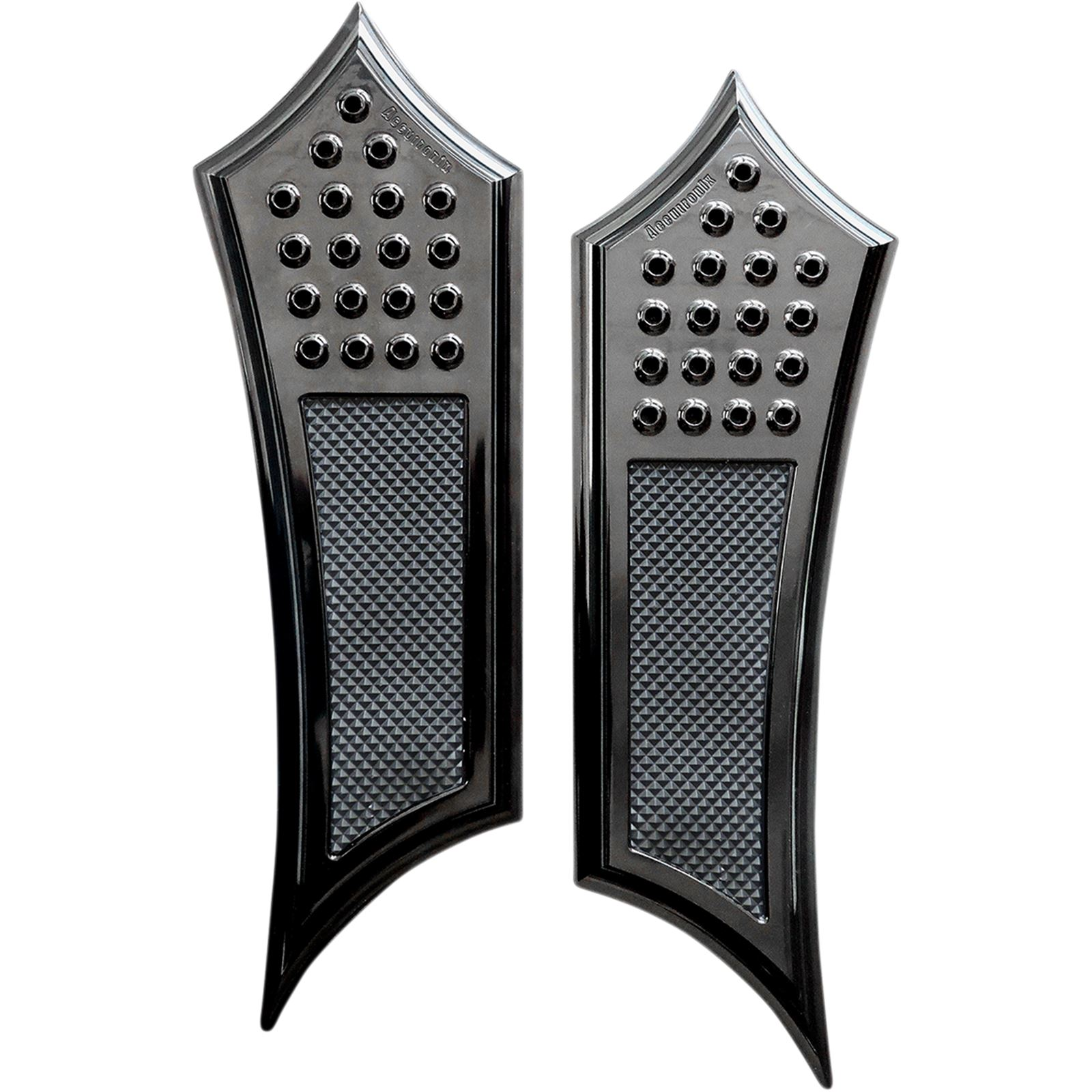 Accutronix Front Floorboards - Extended - Black - Drilled - Instigator - FL