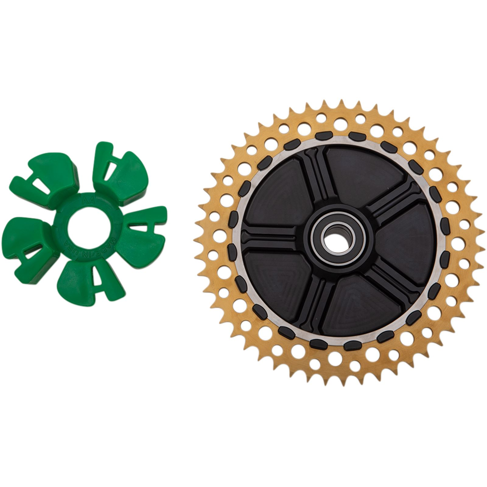 Alloy Art Cush Drive Sprocket - Gold - Anodized - 49-Tooth
