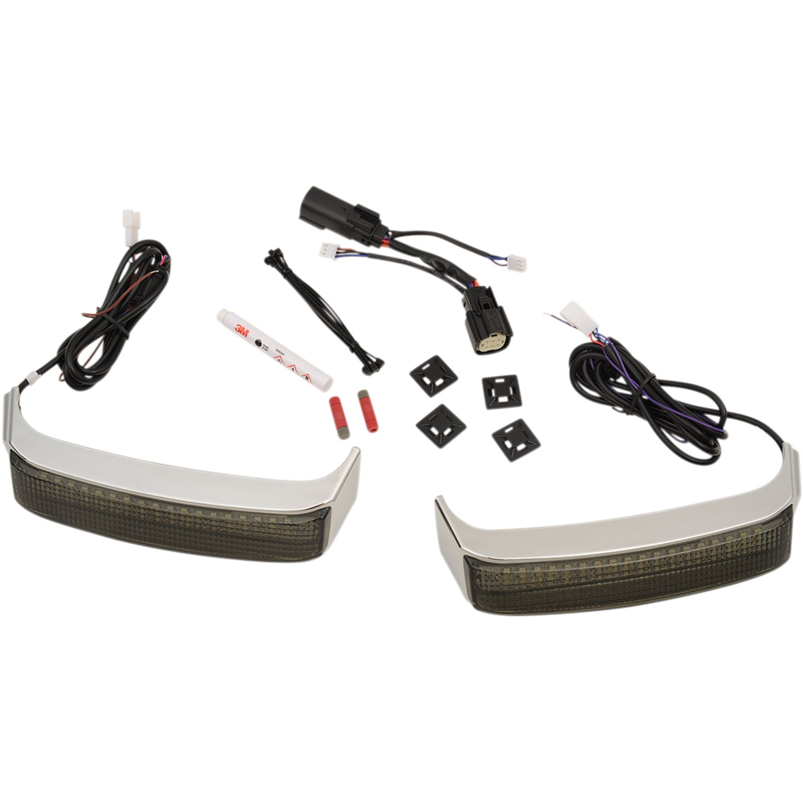 Custom Dynamics Saddlebag Sequential LED Lights - 14+ FLHT/R/X FLTRX/U - Chrome/Smoke