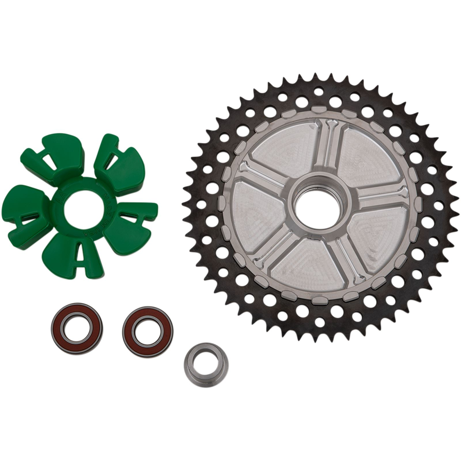 Alloy Art Cush Drive Sprocket - Black - Machined - 53-Tooth