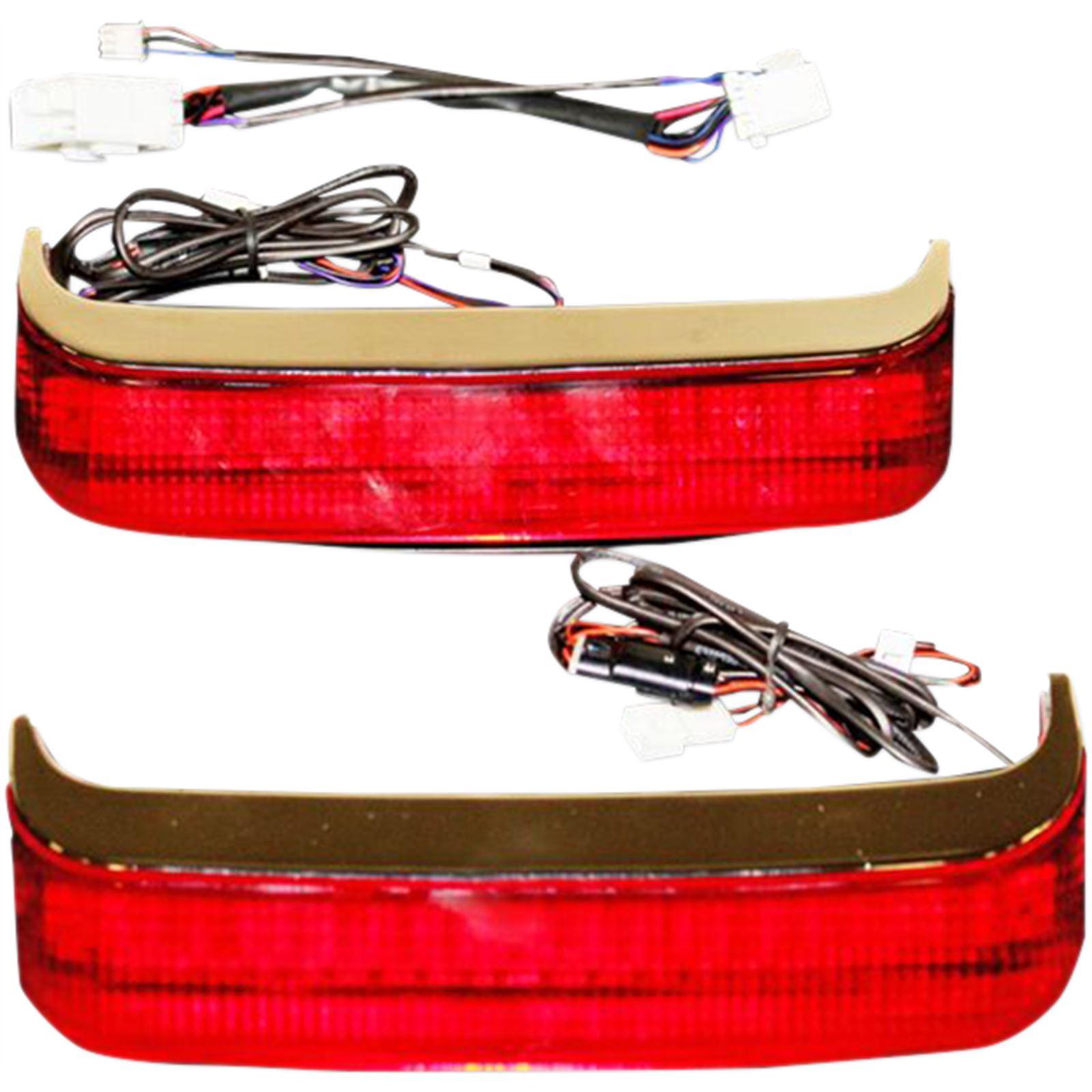 Custom Dynamics Saddlebag LED Lights - 14+ FLHT/R/X FLTRX/U - Chrome/Red