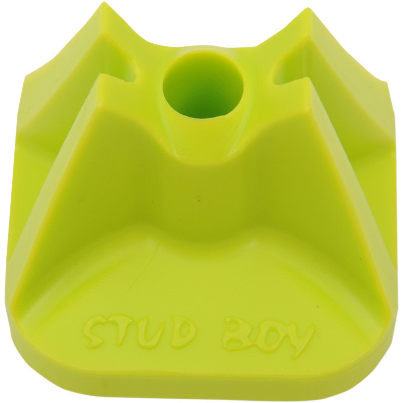 Stud Boy Single Backer Plates - Hi-viz Green - 24/Pack