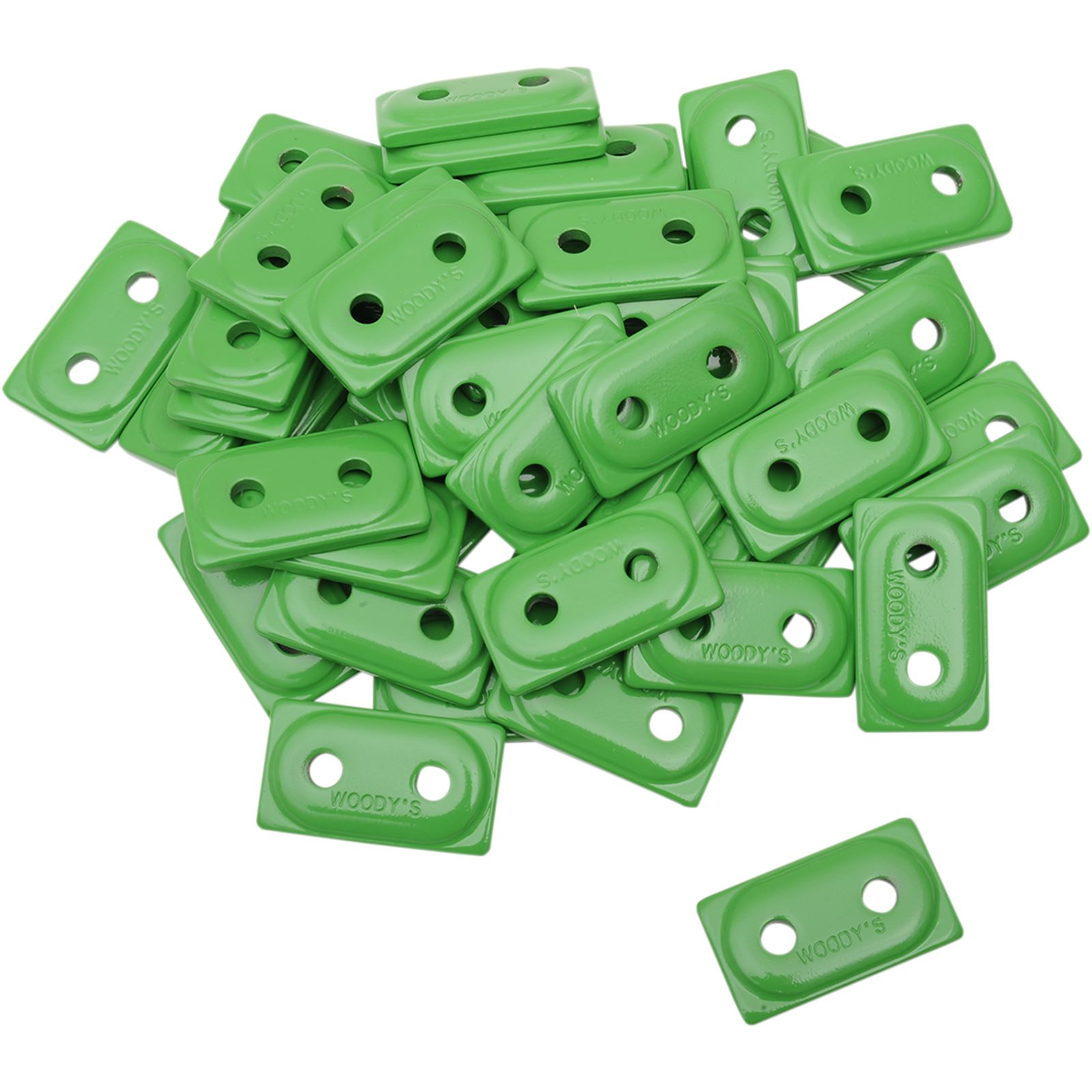 Woodys Support Plates - Green - 48 Pack