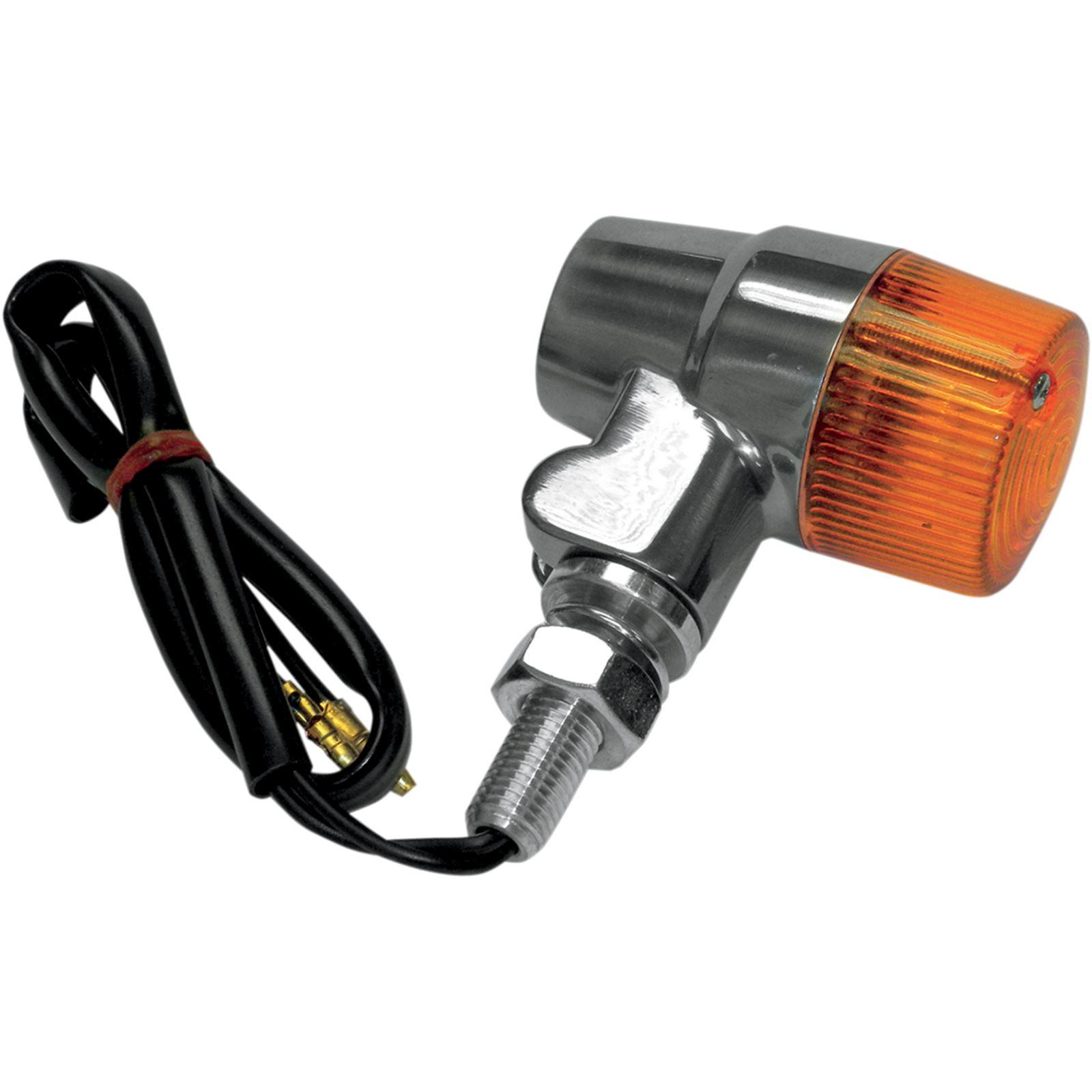 K S Marker Light - Dual Filament - Amber/Aluminum
