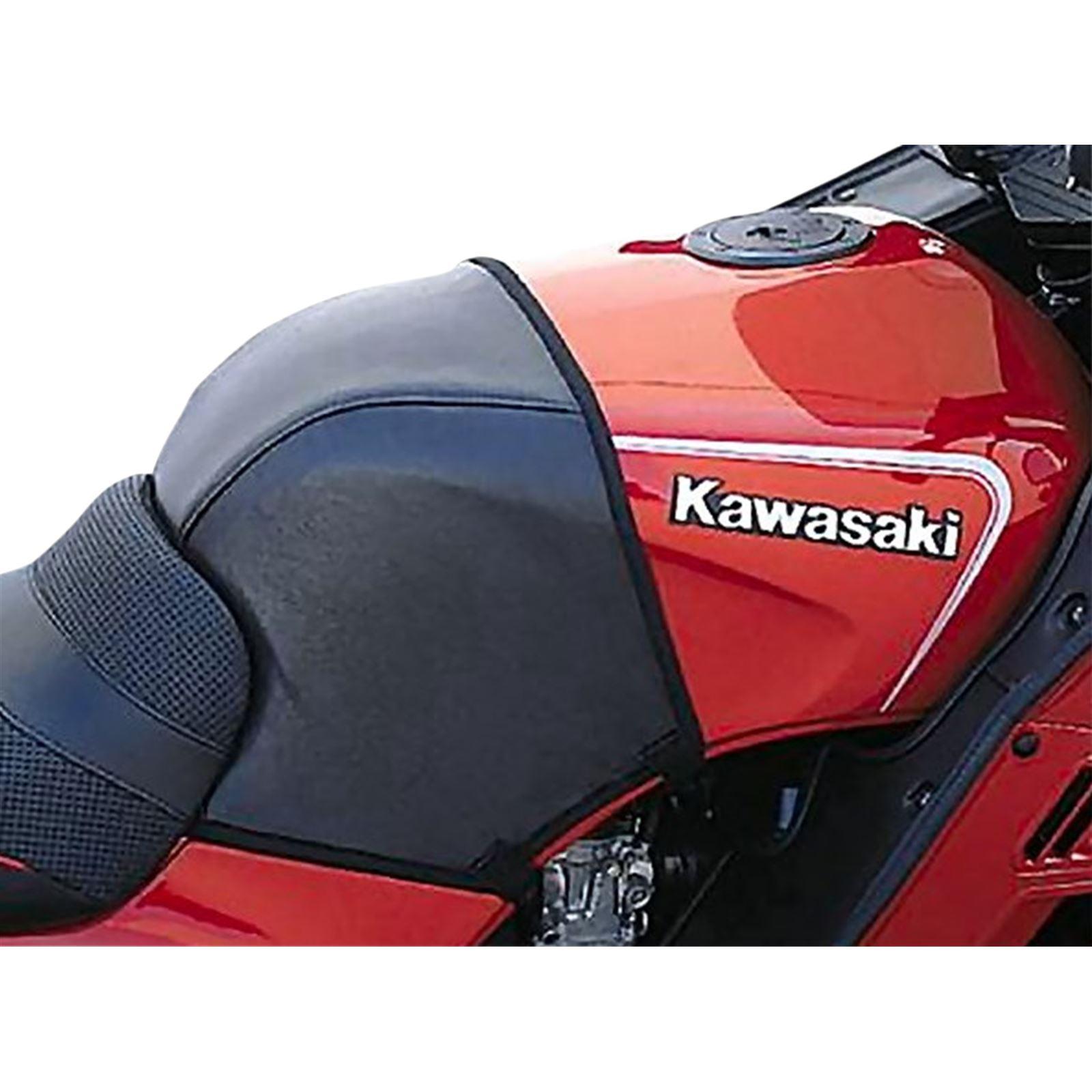 Targa Tank Cover - Black - Half for Kawasaki