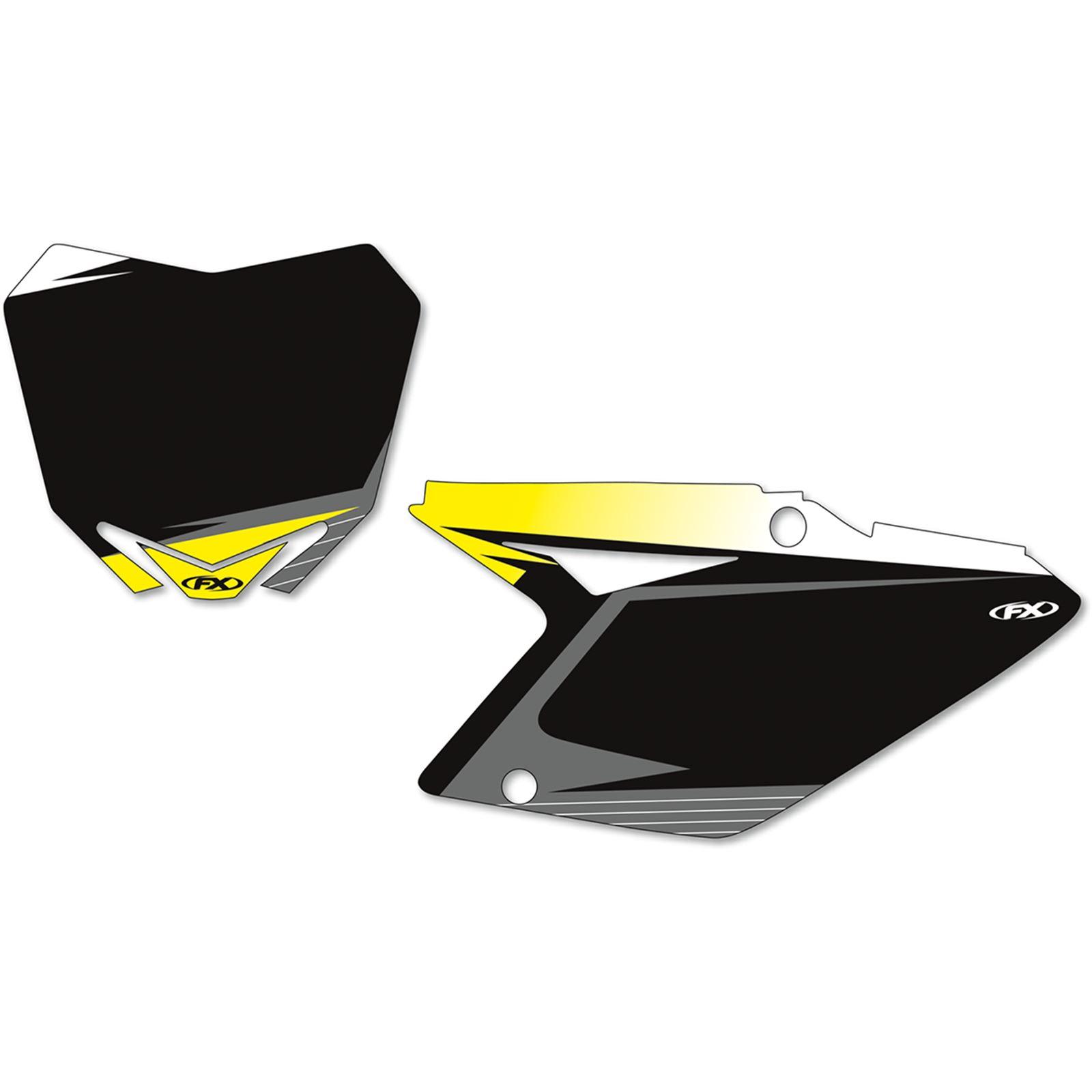 Factory Effex Graphic Number Plates - Black - RMZ450