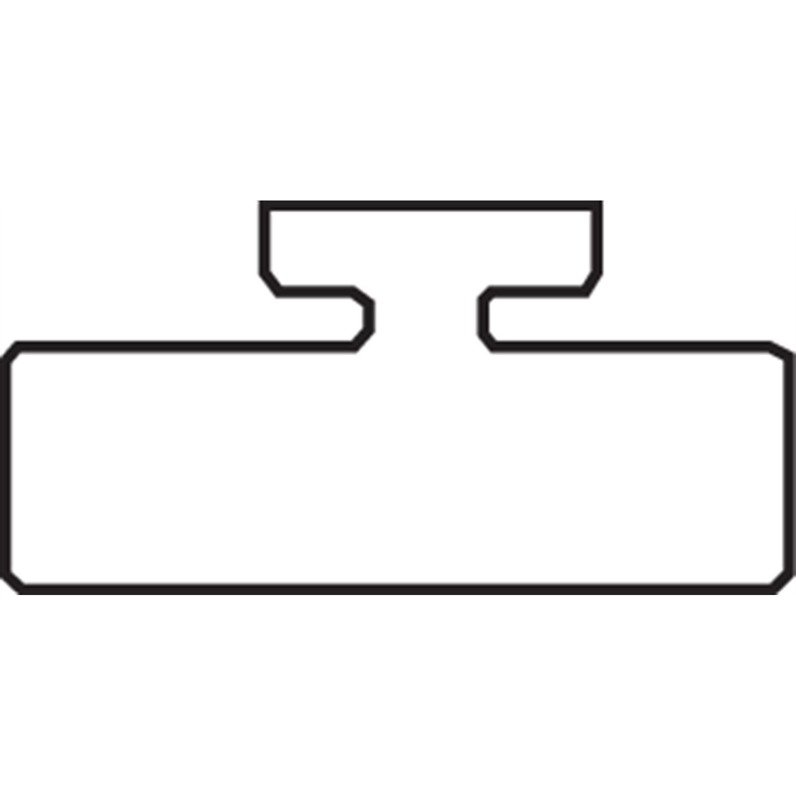 "Garland Black Replacement Slide - UHMW - Profile 14 - Length 47.75"" - Kawasaki"