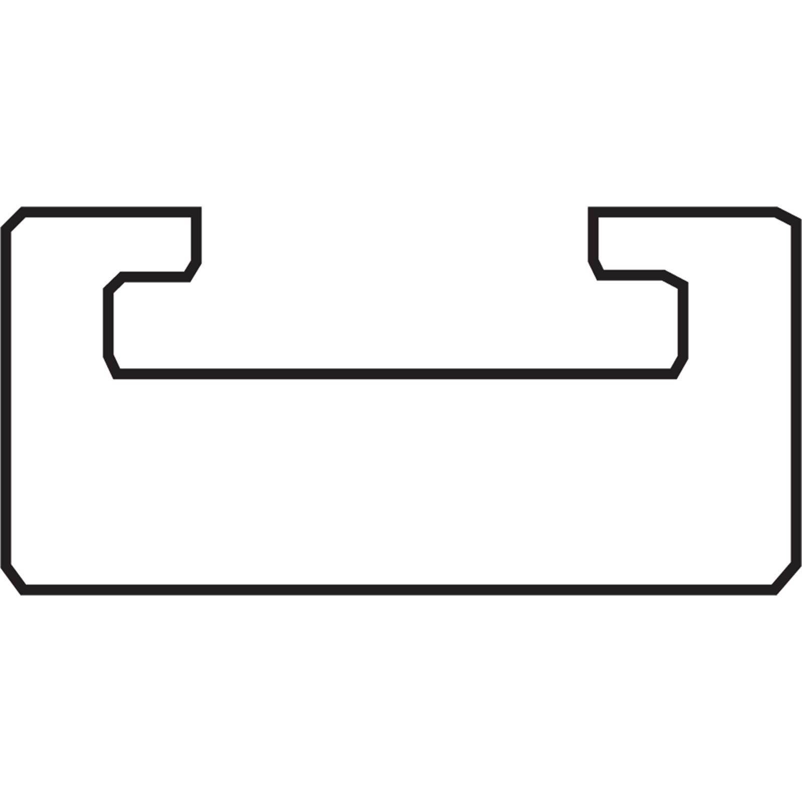 "Garland Black Replacement Slide - UHMW - Profile 16 - Length 46.75"" - Yamaha"