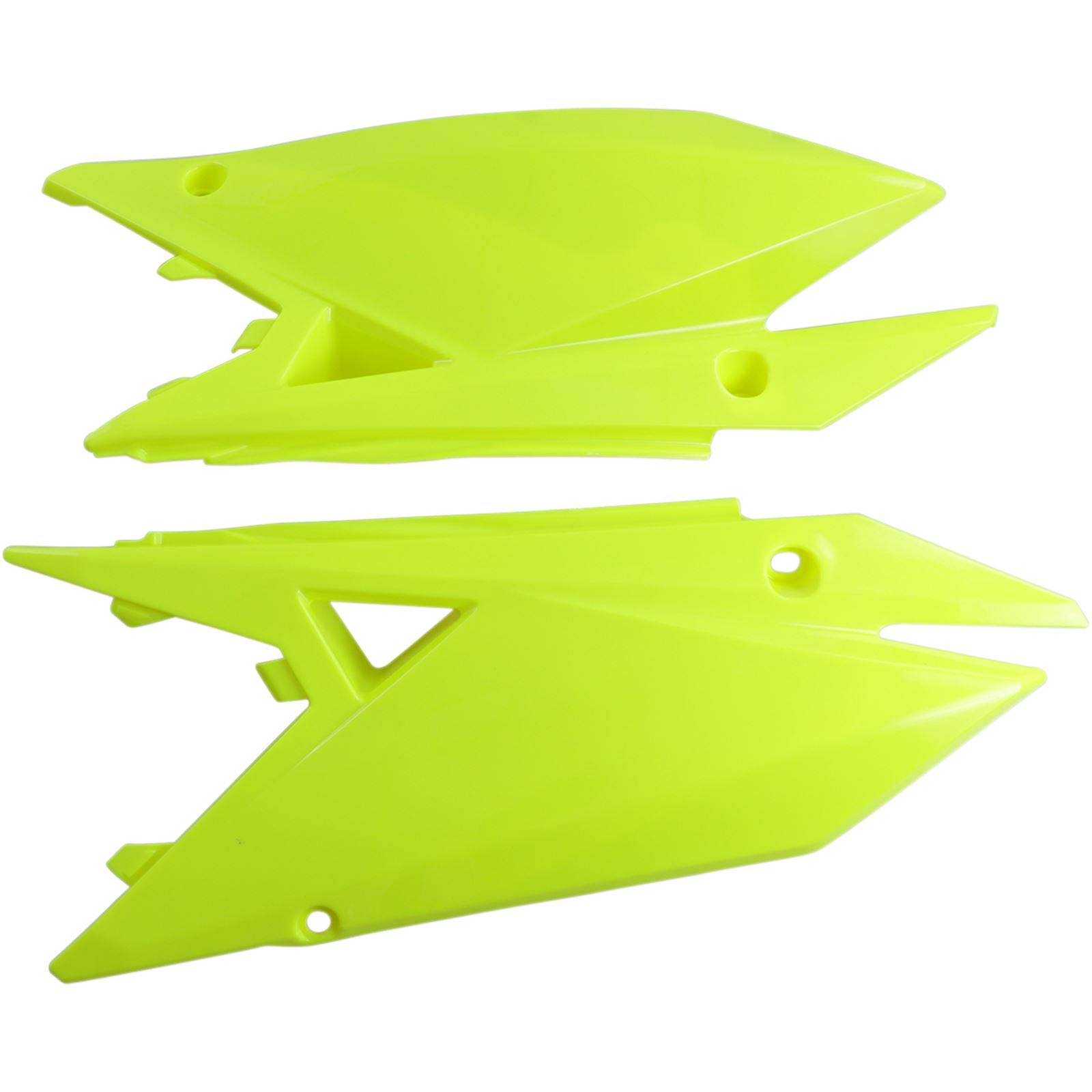 UFO Plastics Side Panels - RMZ 450 - Fluorescent Yellow