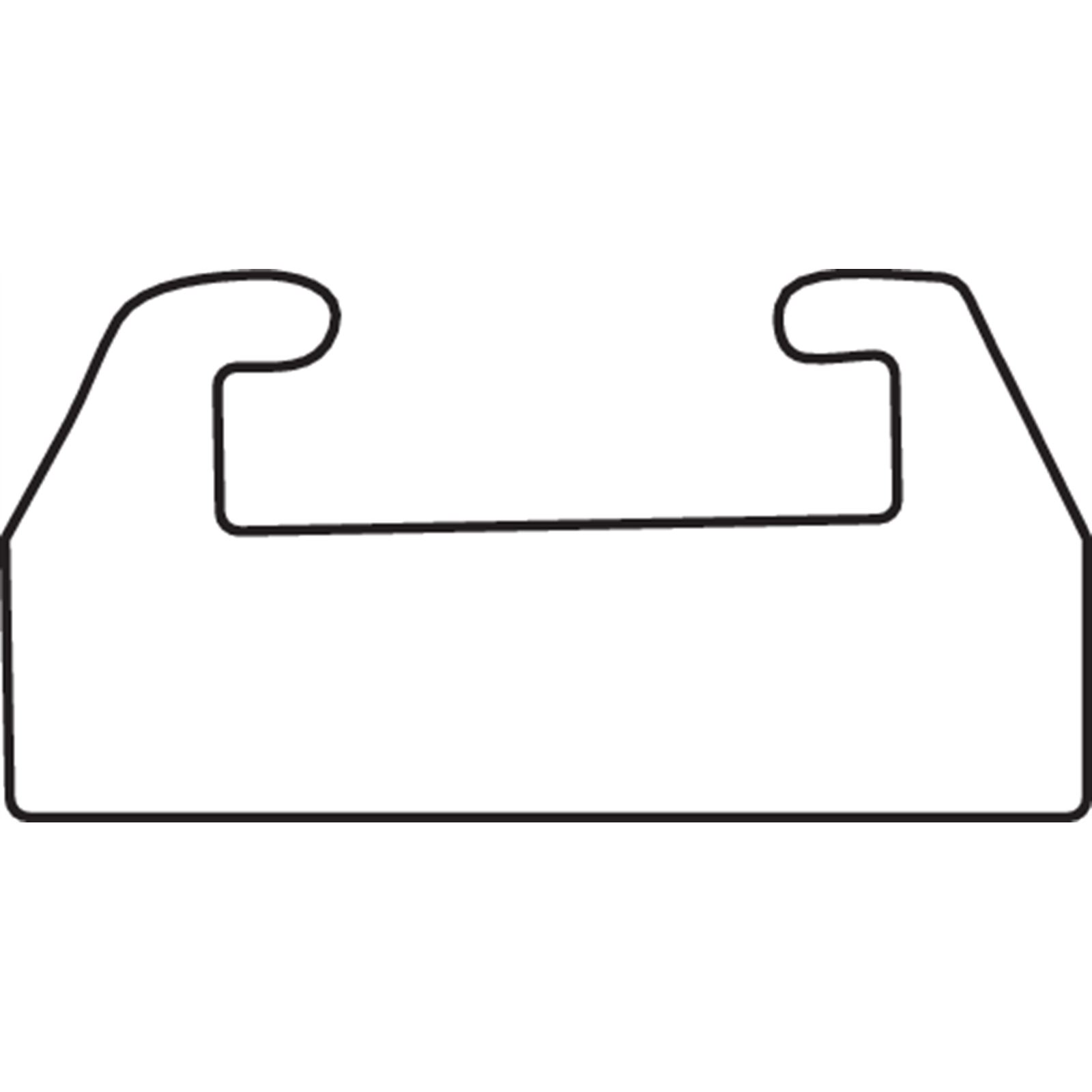 "Garland Black Replacement Slide - UHMW - Profile 26 - Length 41.63"" - Ski-Doo"