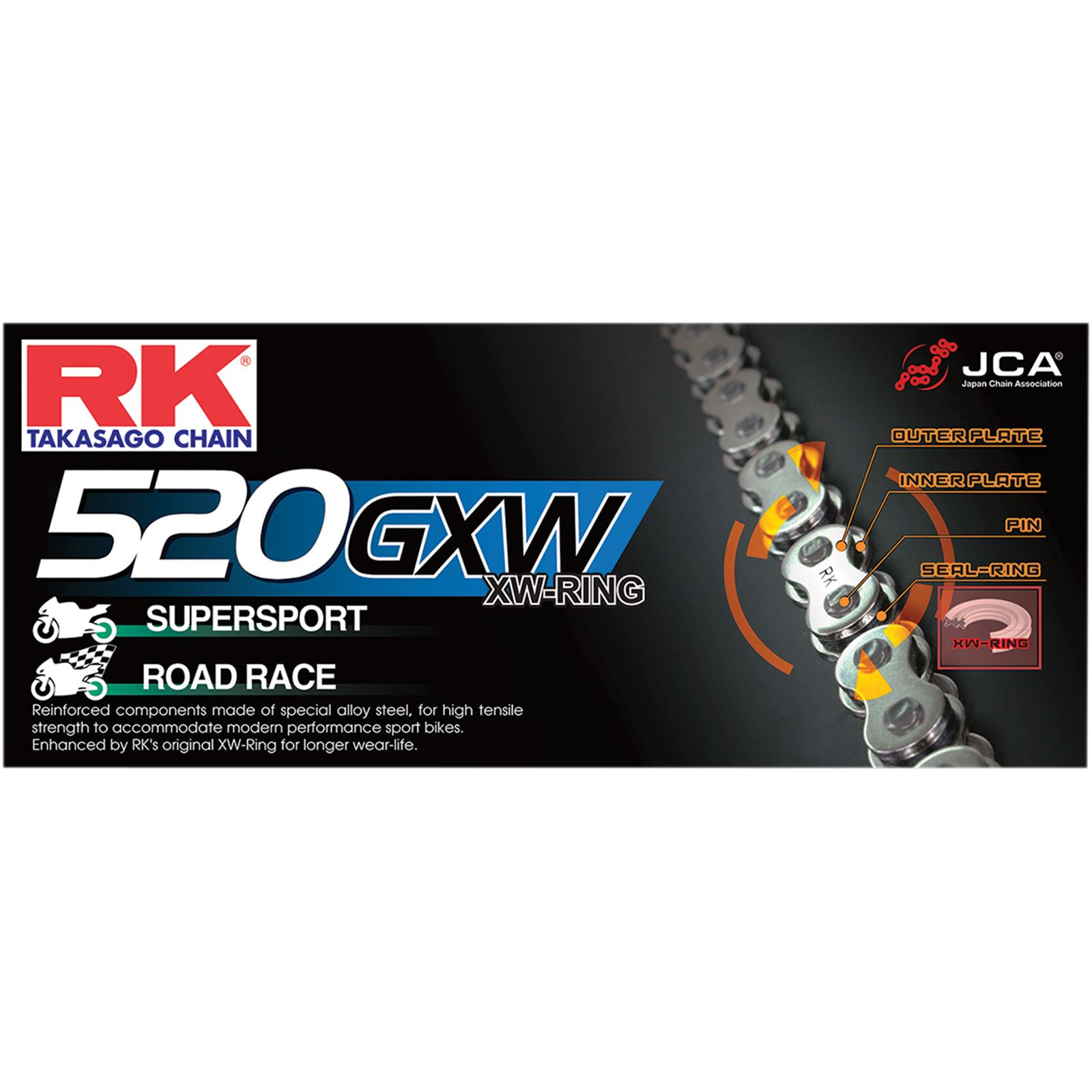 RK Excel 520 GXW - Chain - 114 Links