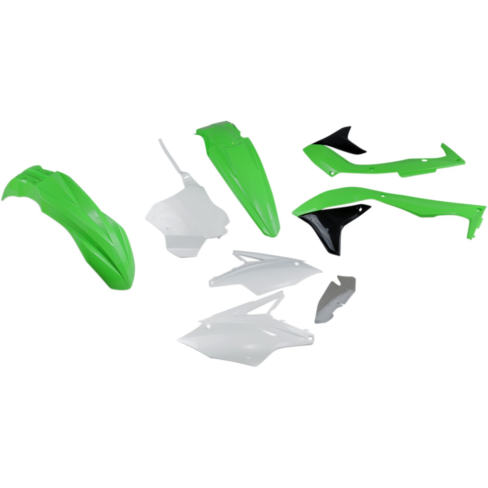 UFO Plastics Body Kit - Green/White/Black - KXF450 - '18