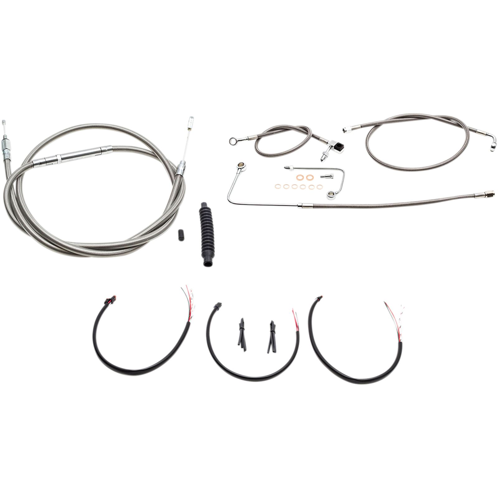 """LA Choppers 18"""" - 20"""" Cable Kit for '16 - '17 Softail"""