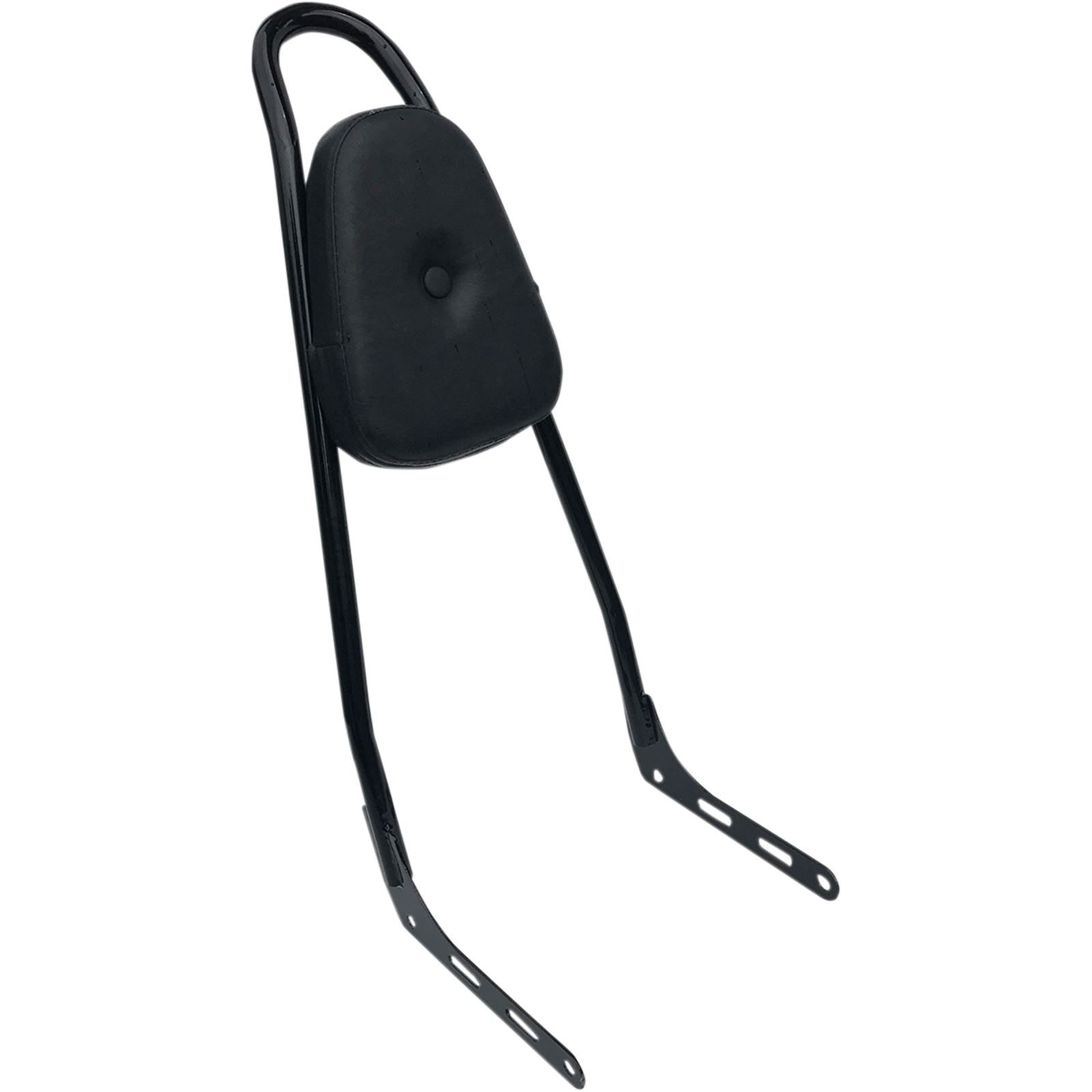 Motherwell One-Piece Sissy Bar - Black - With Pad