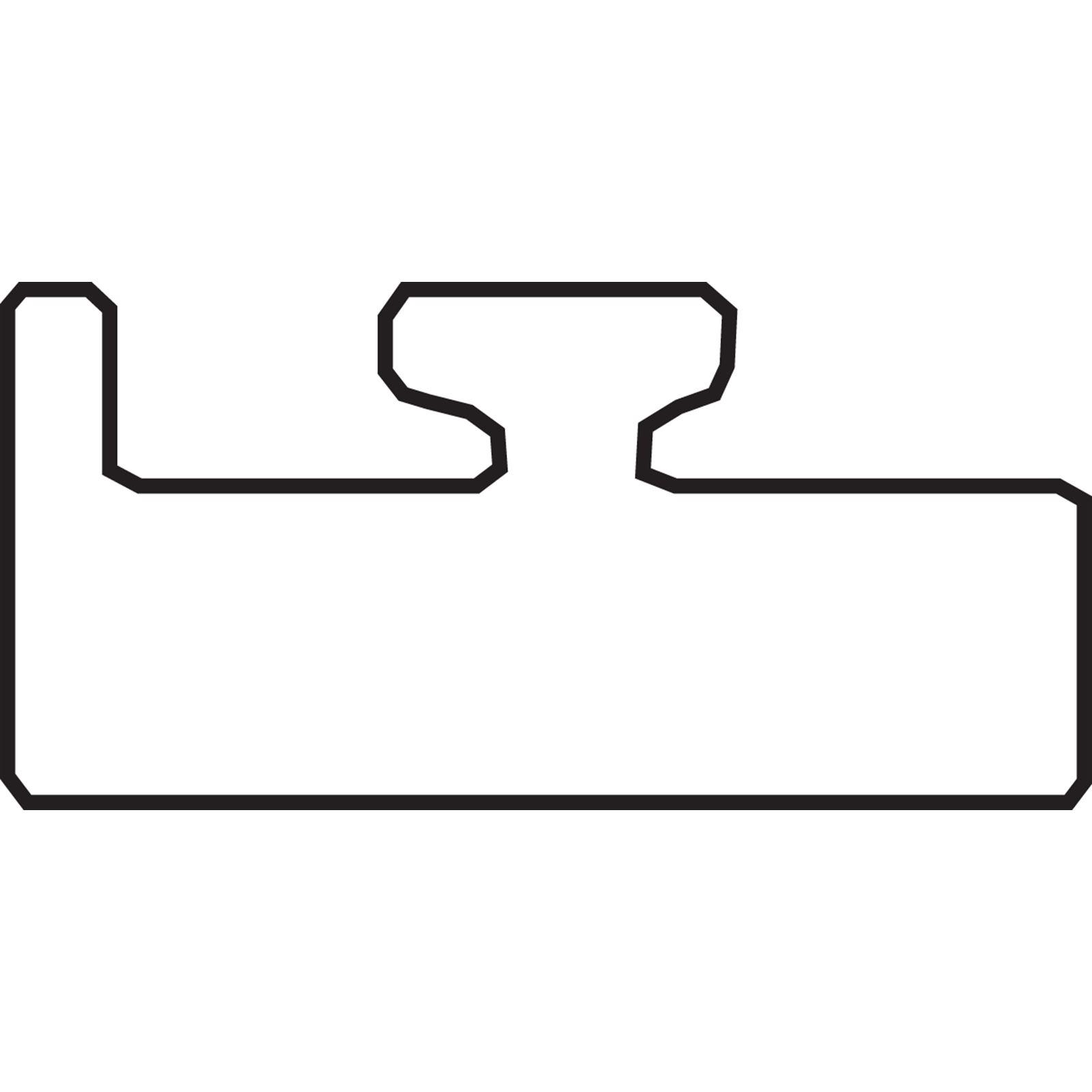 "Garland Black Replacement Slide - Profile 15 - Graphite - Length 55.00"" - Polaris"