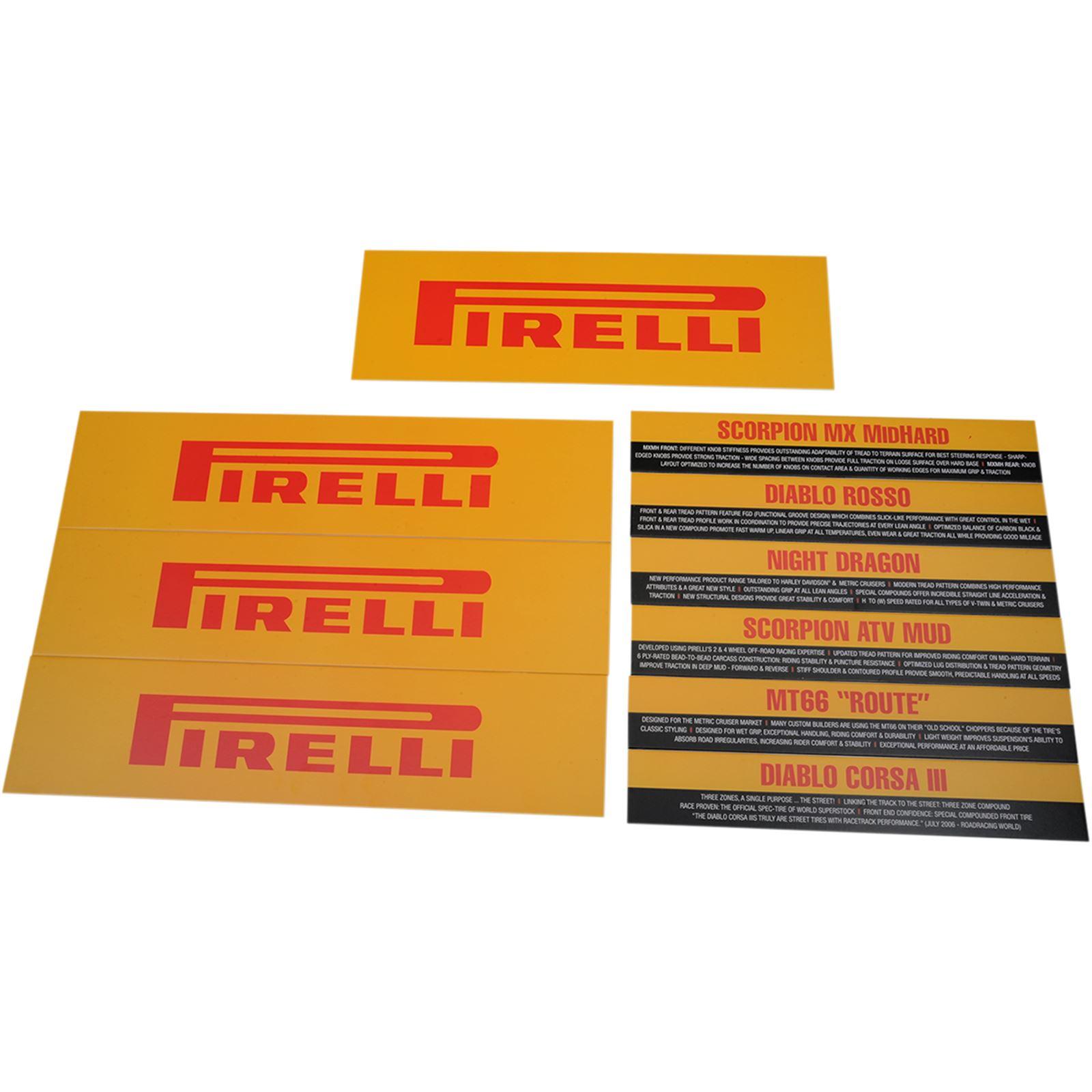 Pirelli Pirelli Tire Rack Sign