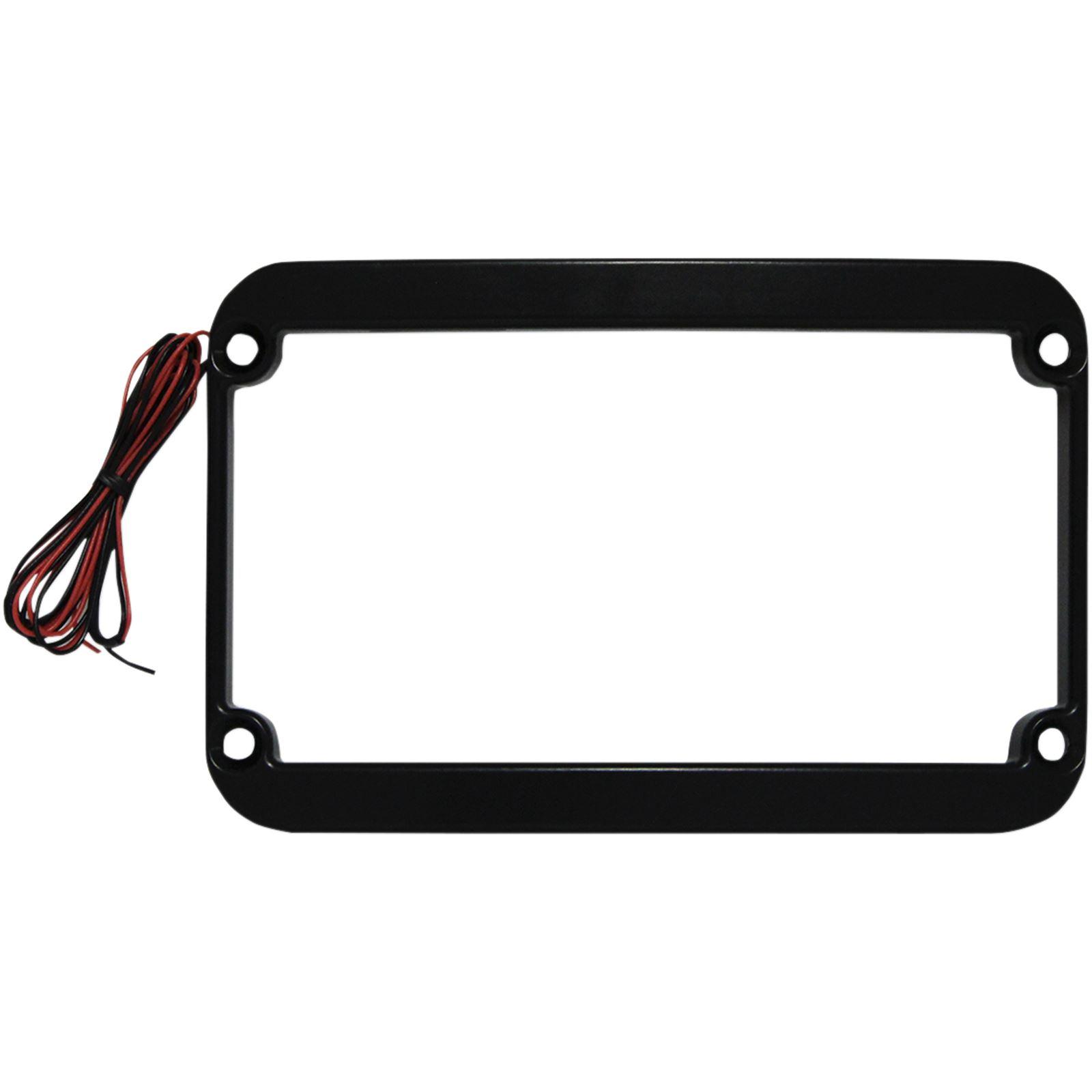 Klock Werks Lighted License Plate Frame - Black