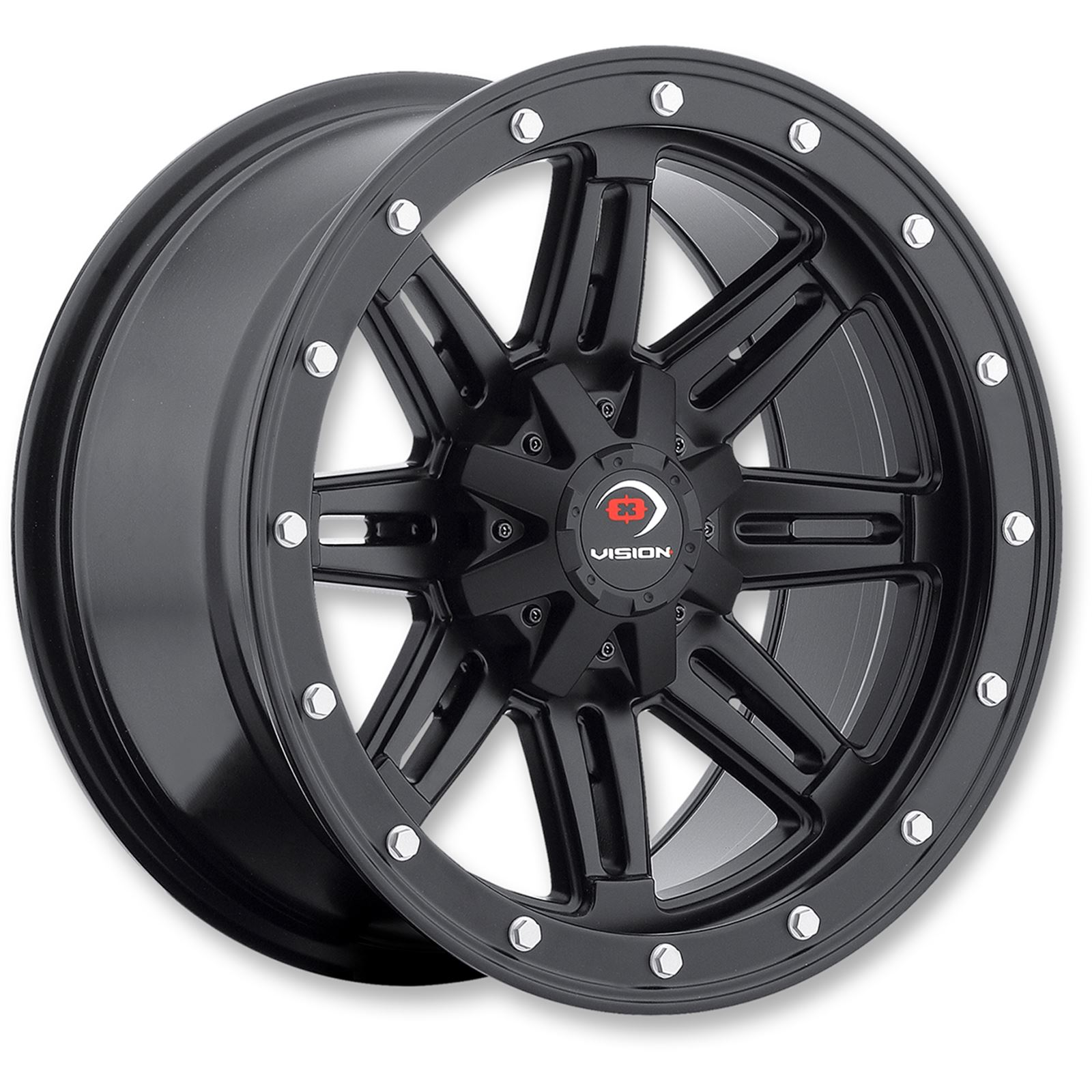 Vision Wheels Wheel - 550B - 12X8 4/156 4+4