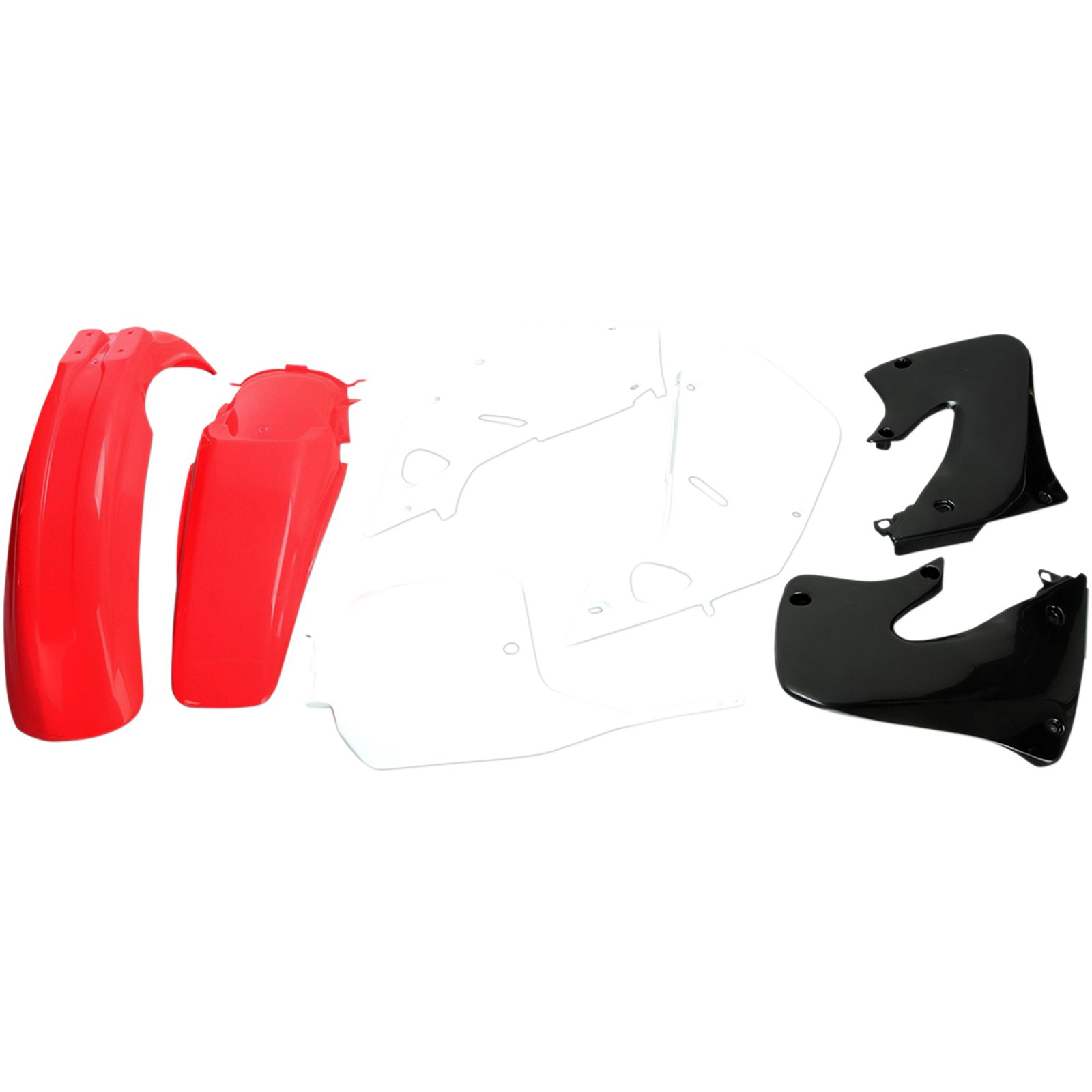 UFO Plastics Replacement Body Kit - OE White/Red/Black - '98-'99 CR125R/250R