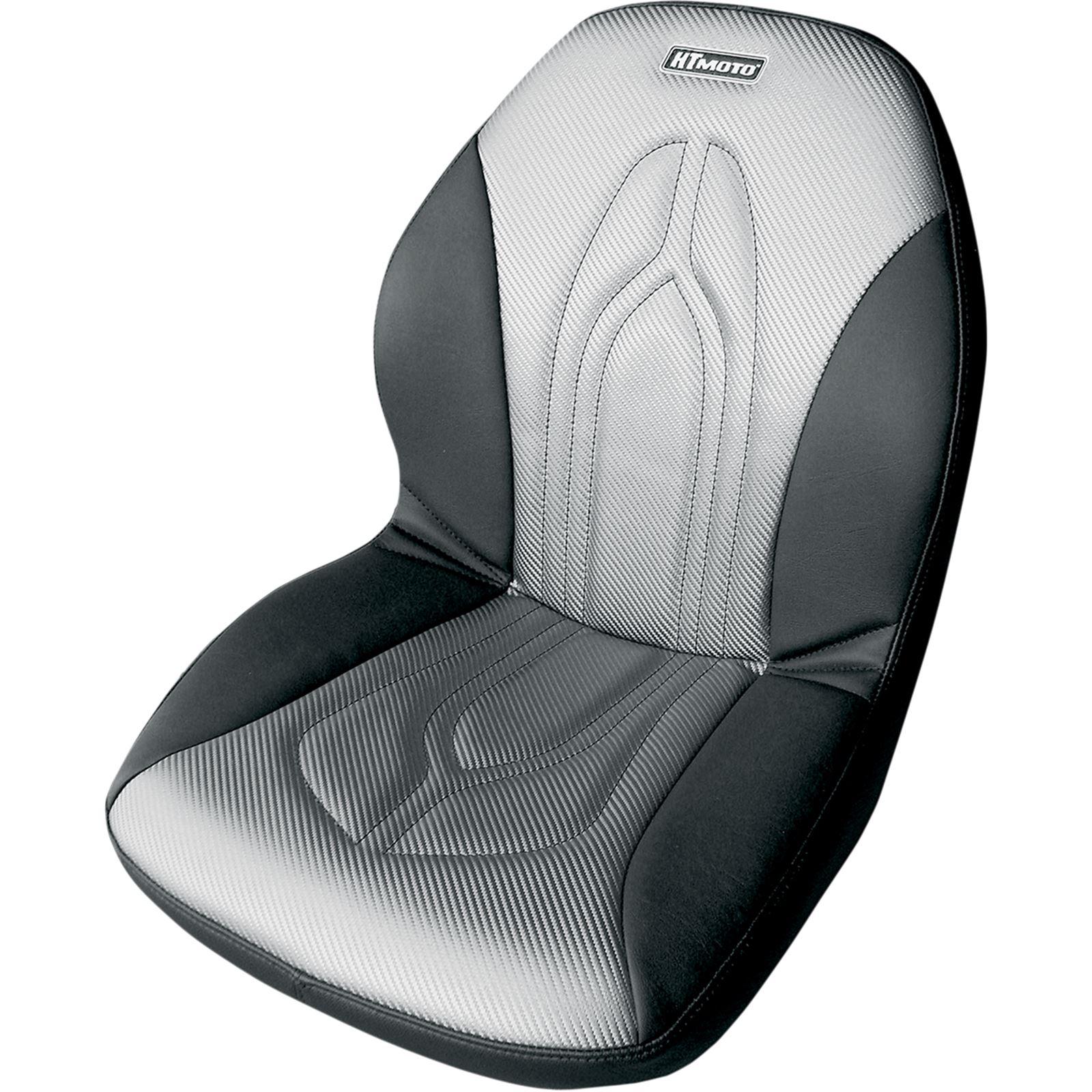 HT Moto Seat Cover - Black/Gray - Arctic Cat