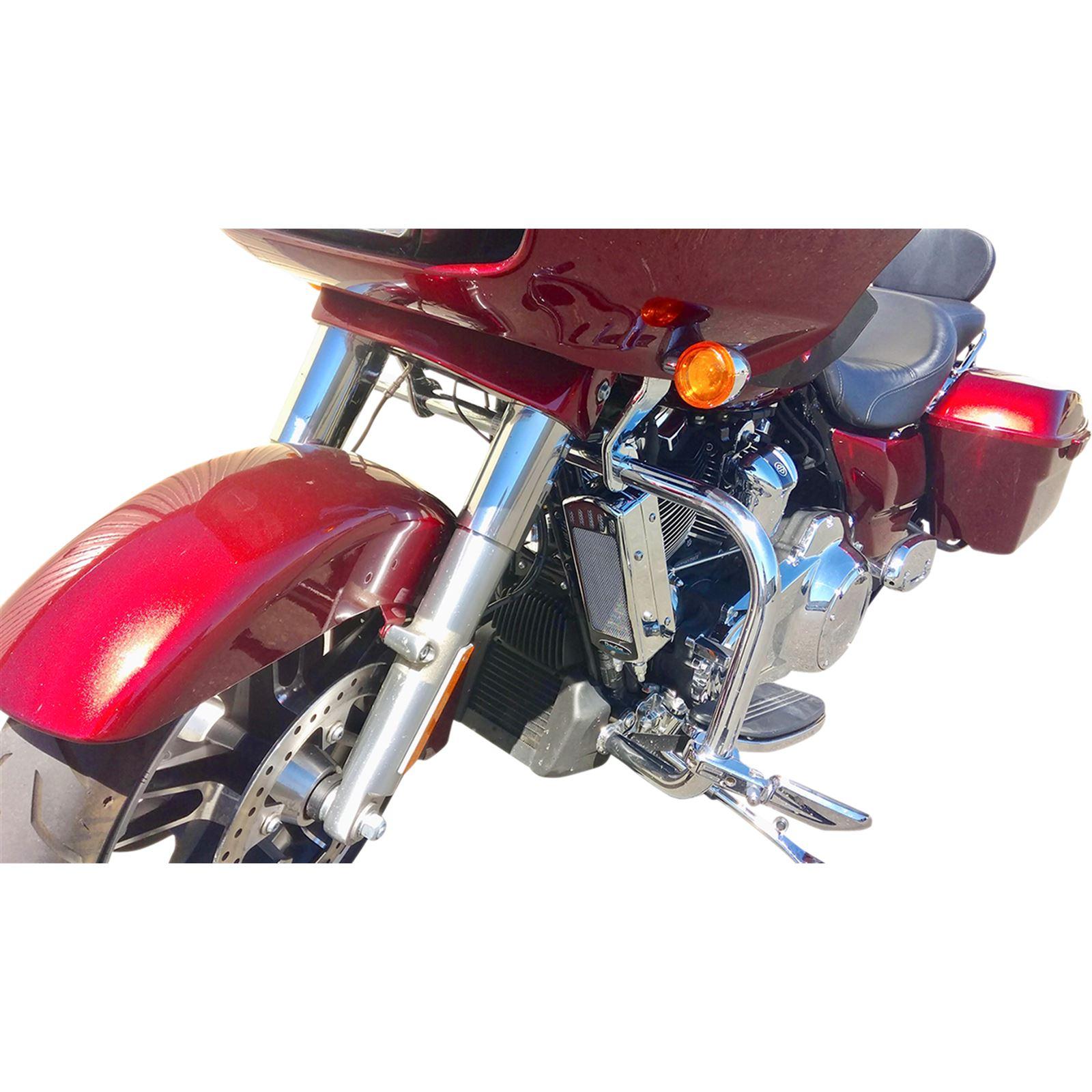 Ultracool Oil Cooler Kit - Chrome - Frame Mount - M8 Oil Cooled