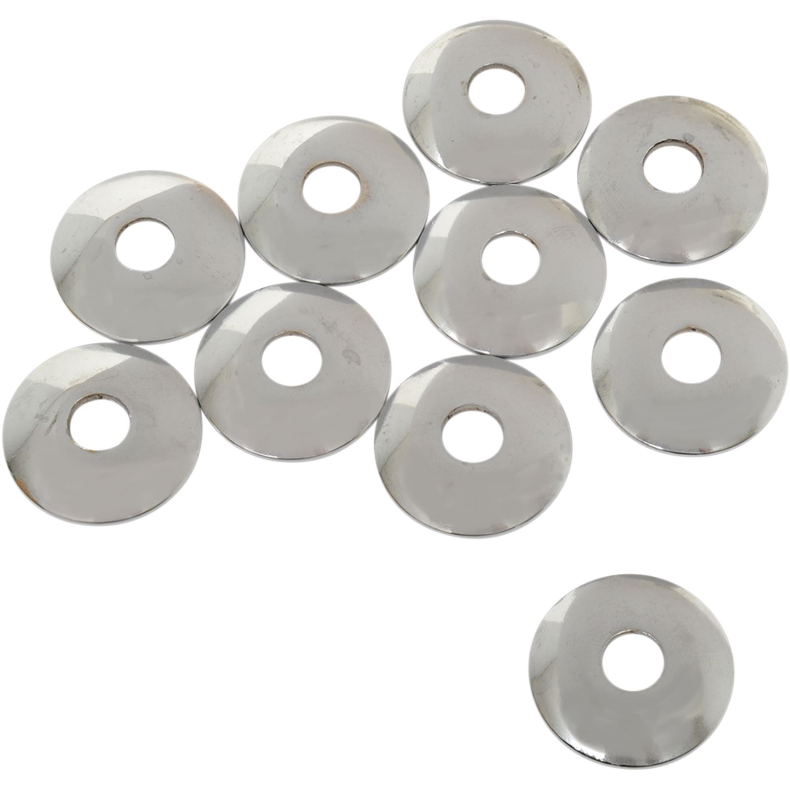 """Eastern Motorcycle Parts Cup Washers - Chrome - 3/8"""" ID"""