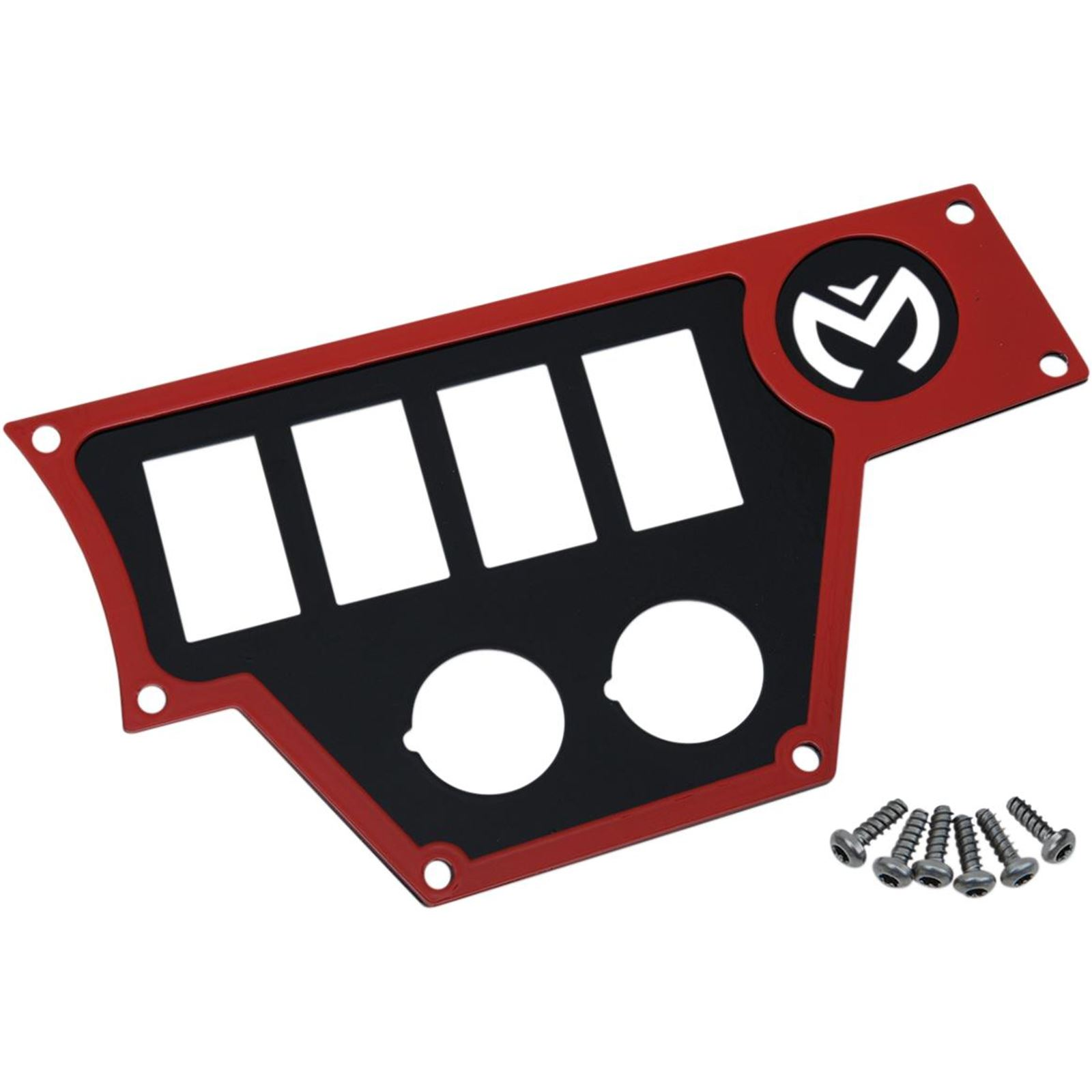 Moose Large Dash Plate - Right - Red - RZR